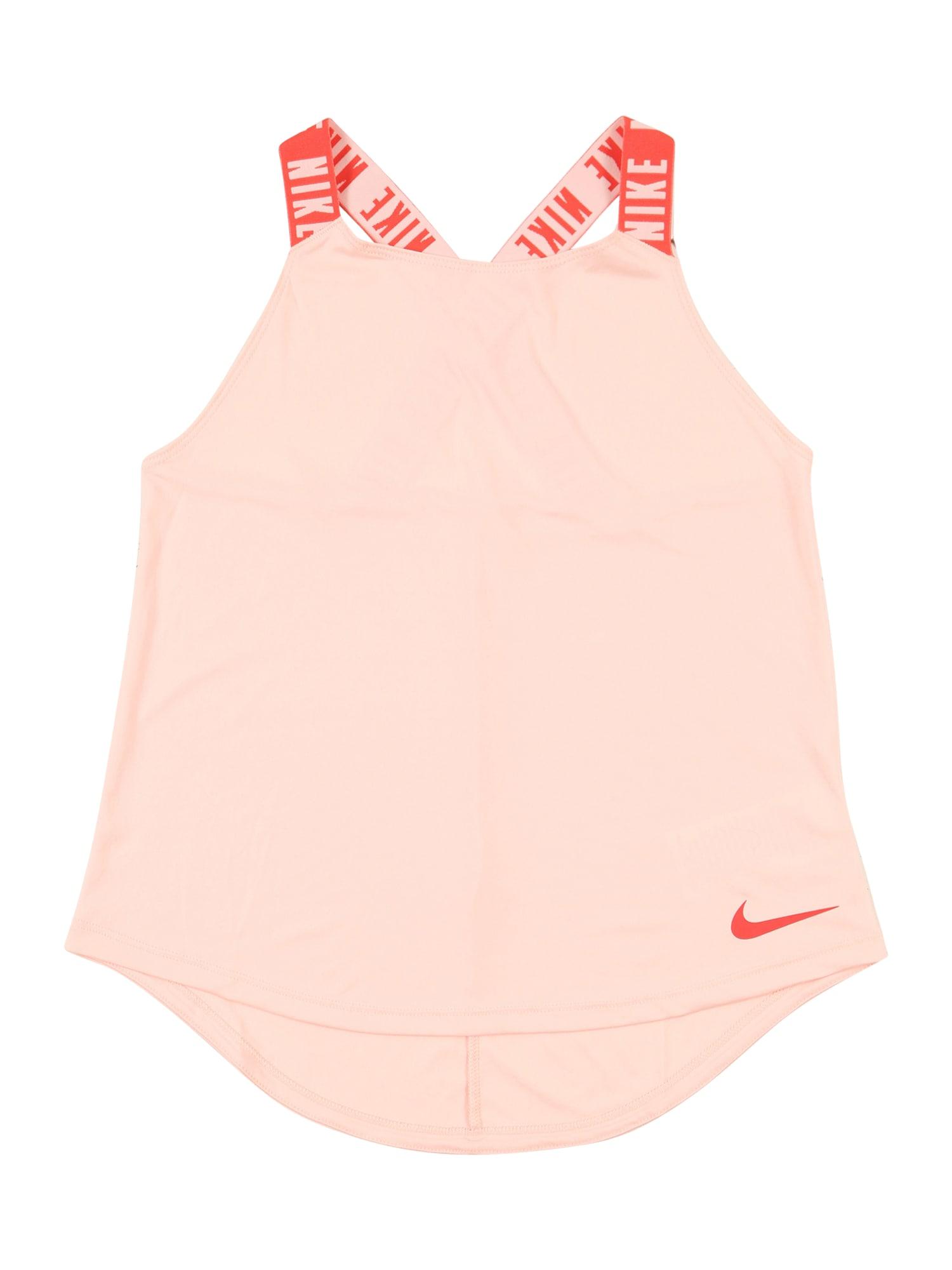 NIKE Sportiniai marškinėliai be rankovių tamsiai oranžinė / balta / lašišų spalva