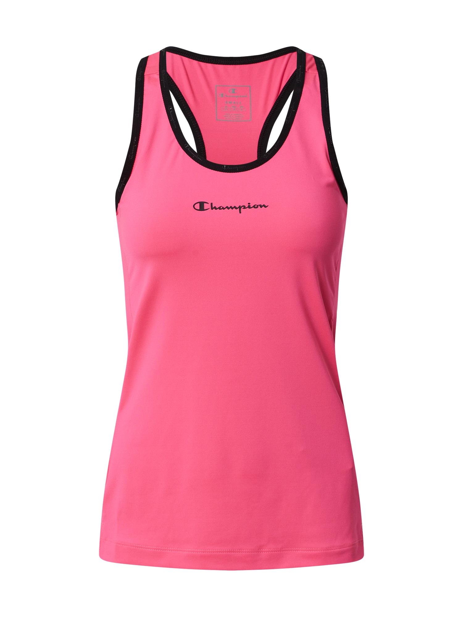 Champion Authentic Athletic Apparel Sportiniai marškinėliai be rankovių rožinė / juoda