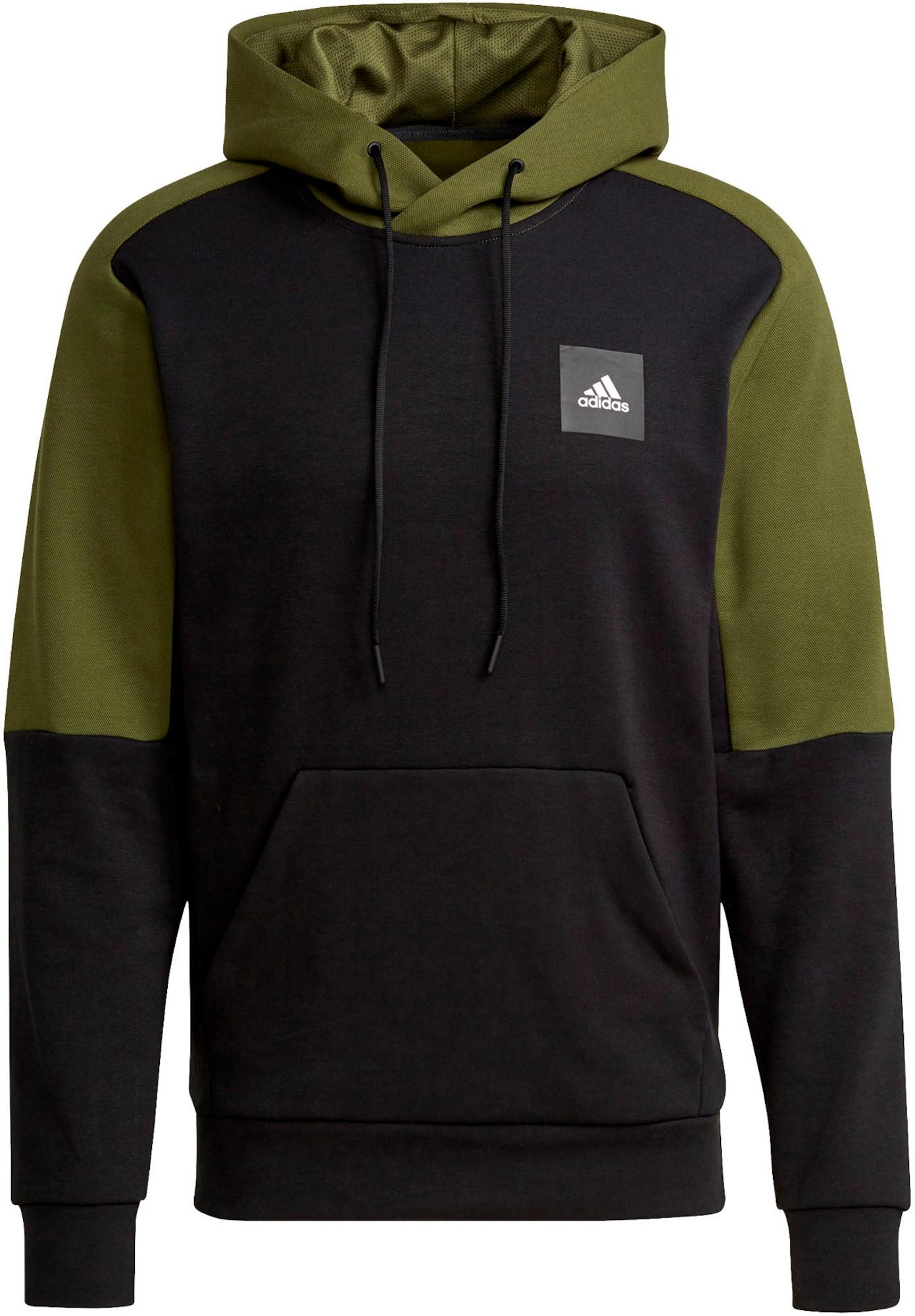 ADIDAS PERFORMANCE Sportinio tipo megztinis 'STADIUM' juoda / žolės žalia / balta