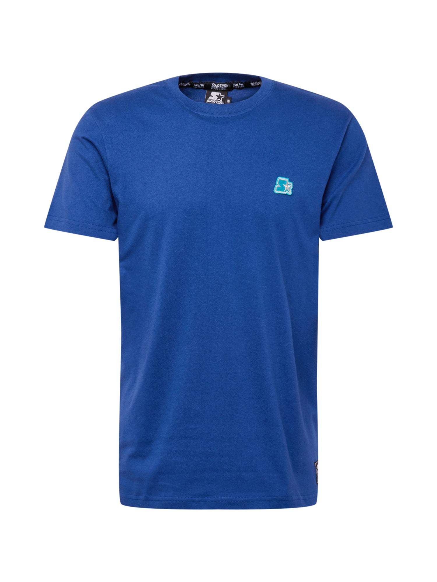 """Starter Black Label Marškinėliai sodri mėlyna (""""karališka"""") / šviesiai pilka / nefrito spalva"""