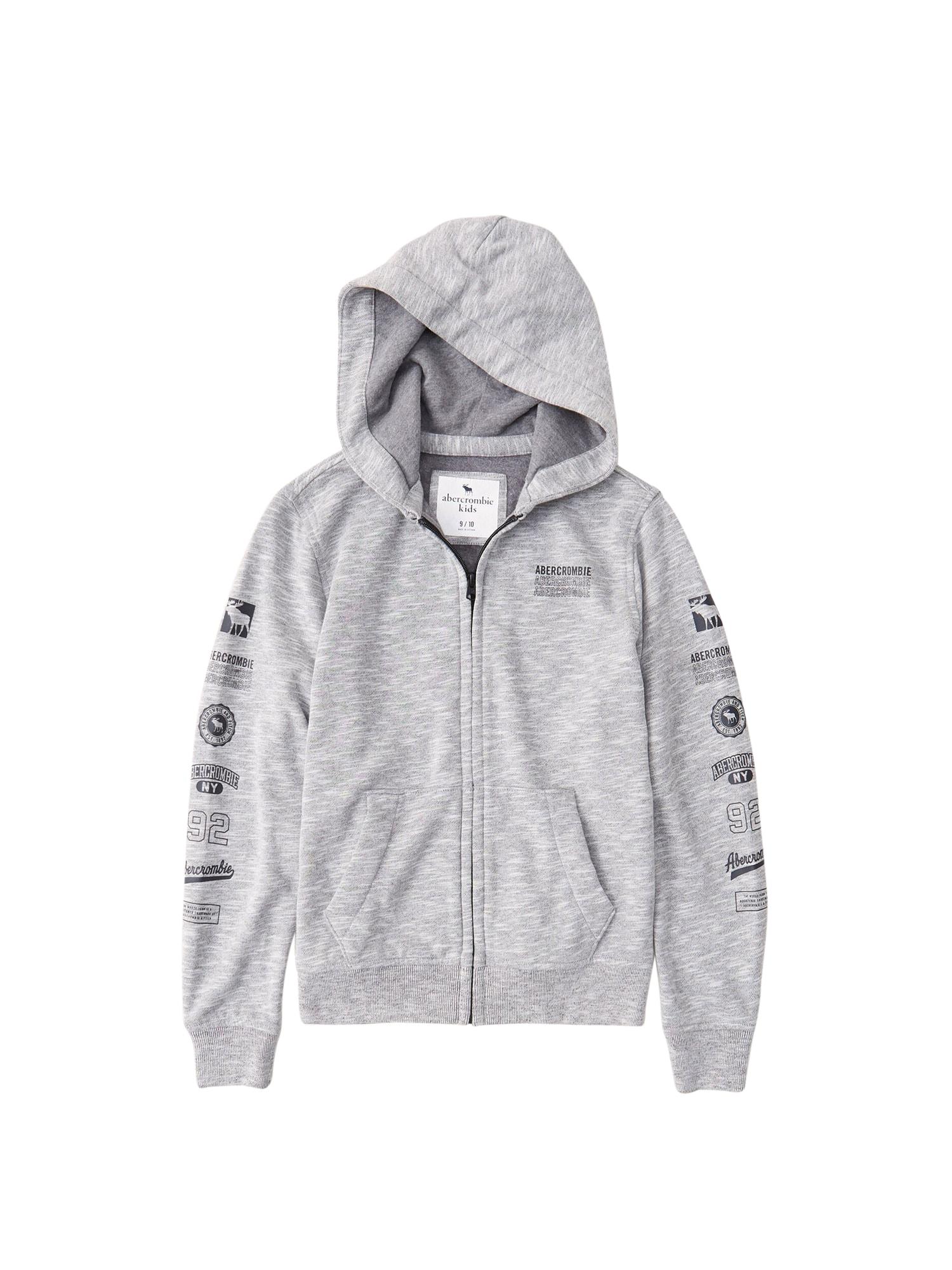 Abercrombie & Fitch Džemperis margai pilka / tamsiai pilka
