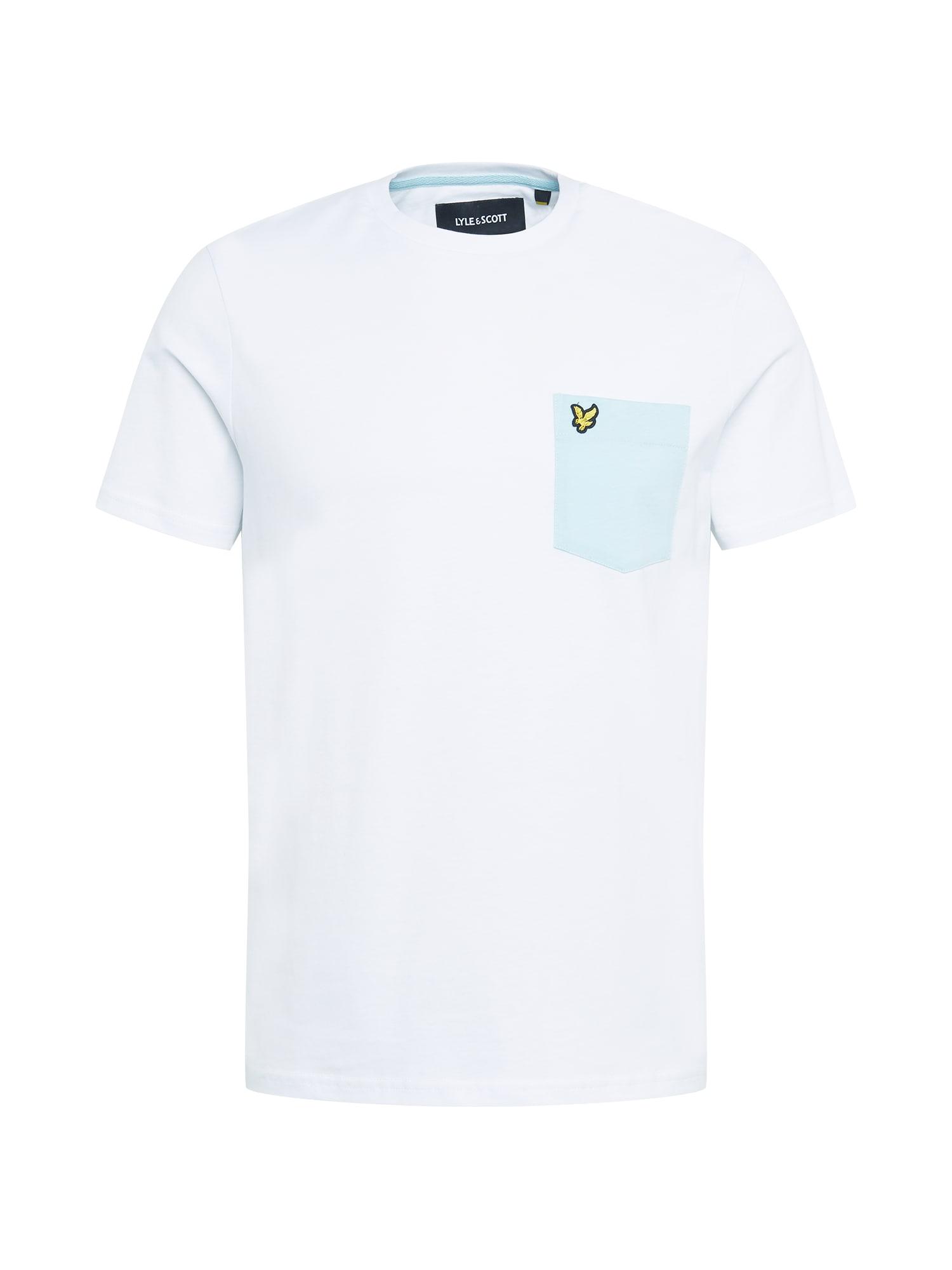 Lyle & Scott Marškinėliai balta / šviesiai mėlyna / žaliosios citrinos spalva / juoda