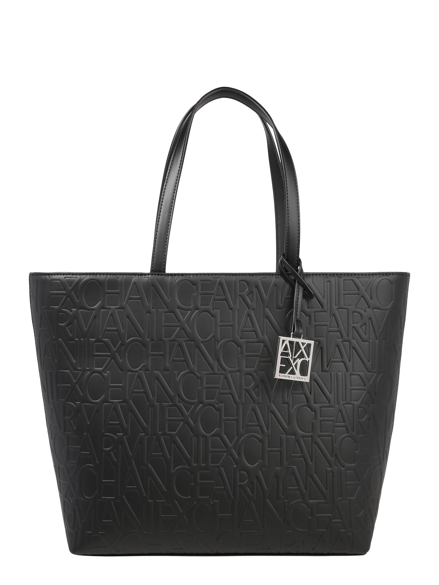 ARMANI EXCHANGE Pirkinių krepšys juoda