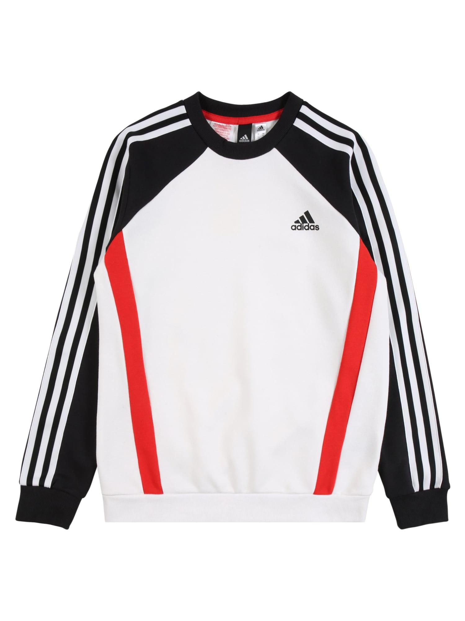 ADIDAS PERFORMANCE Sportinio tipo megztinis balta / juoda / raudona