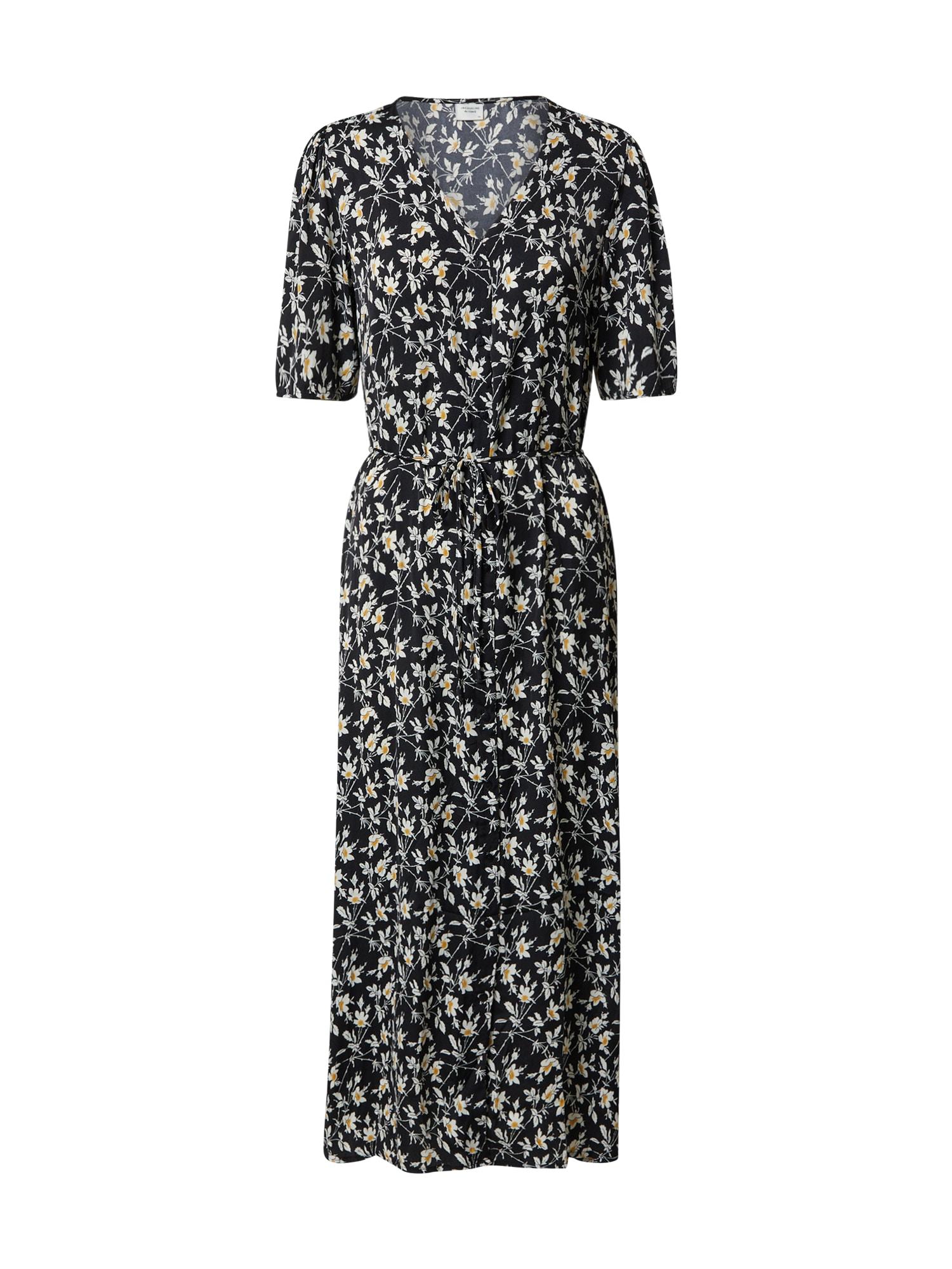 JACQUELINE de YONG Suknelė geltona / balta / juoda