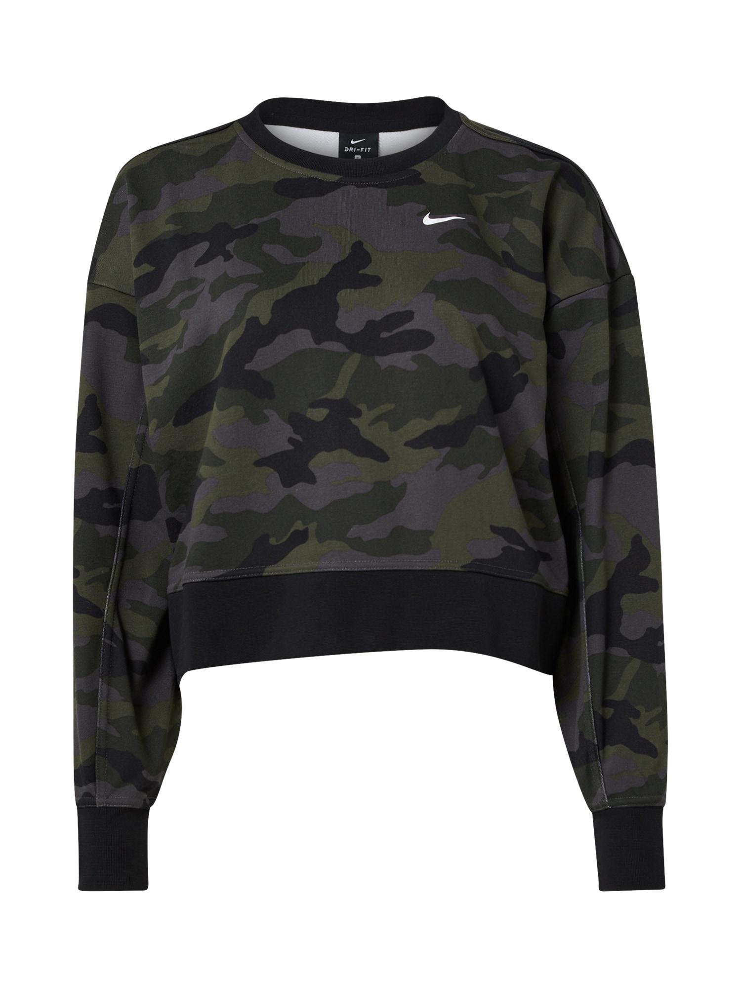 NIKE Sportinio tipo megztinis rusvai žalia / alyvuogių spalva / margai pilka / antracito
