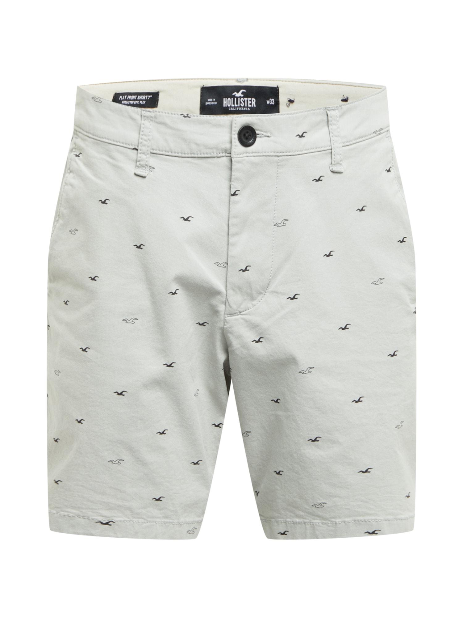 HOLLISTER Chino kalhoty  světle šedá / černá