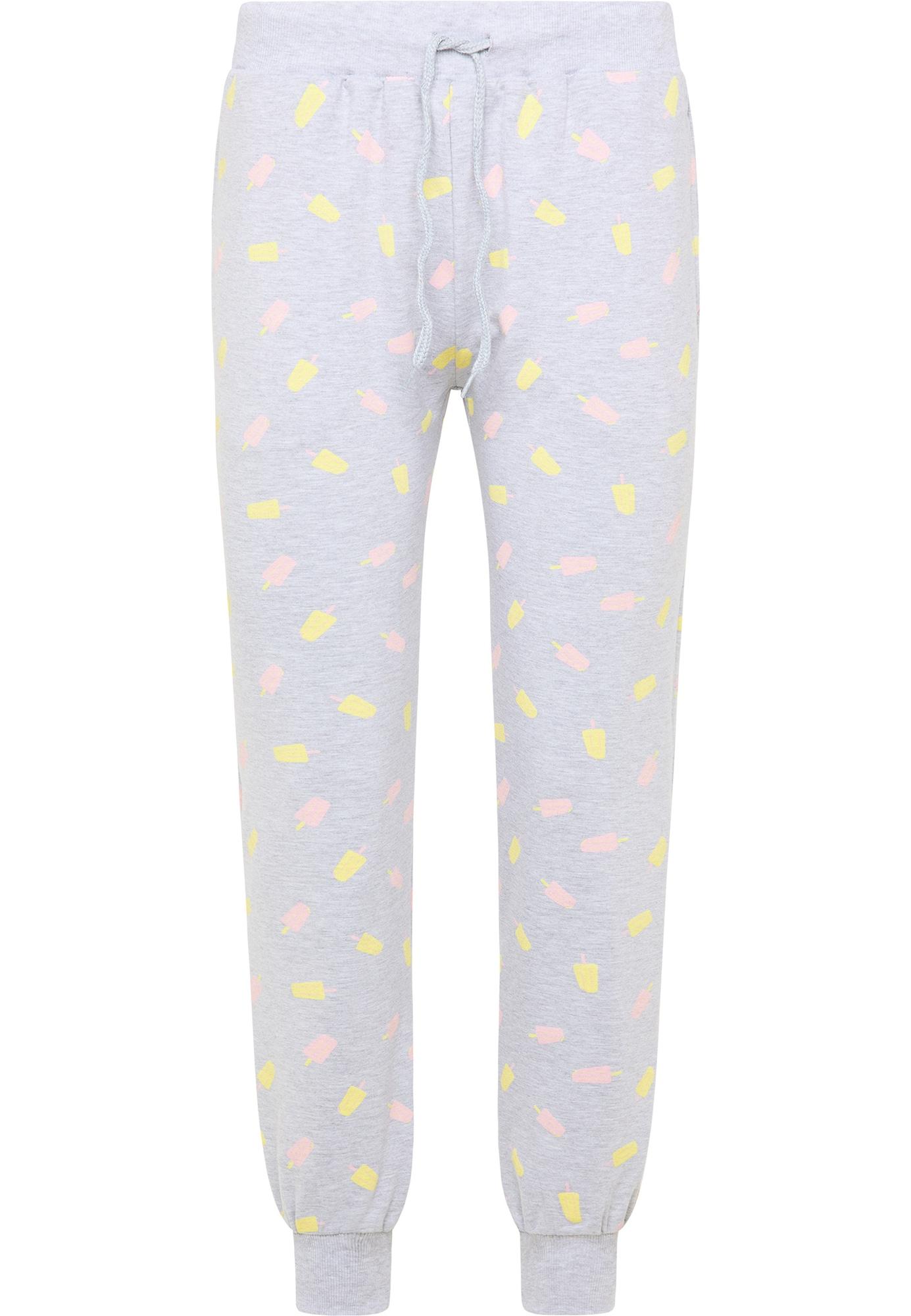 MYMO Kelnės margai pilka / šviesiai rožinė / šviesiai geltona