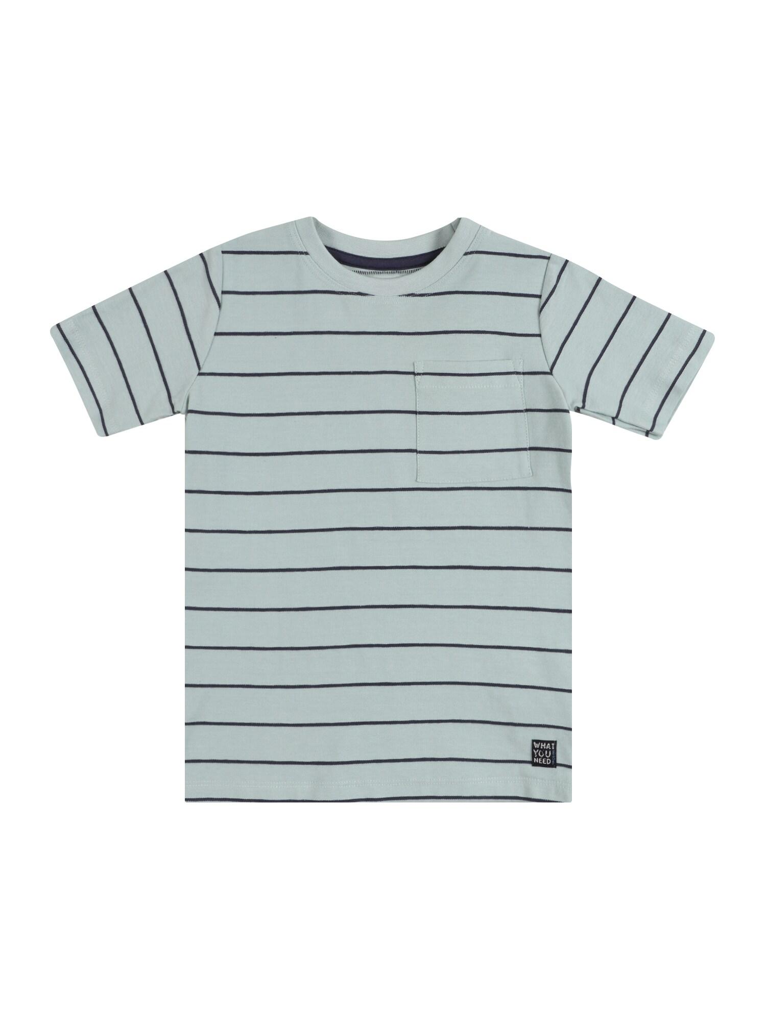 BASEFIELD Marškinėliai nefrito spalva / tamsiai mėlyna