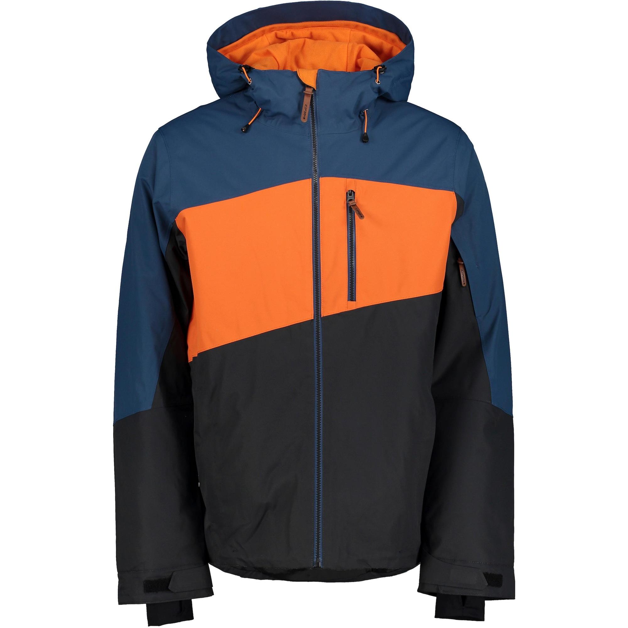 ICEPEAK Laisvalaikio striukė mėlyna / neoninė oranžinė / juoda