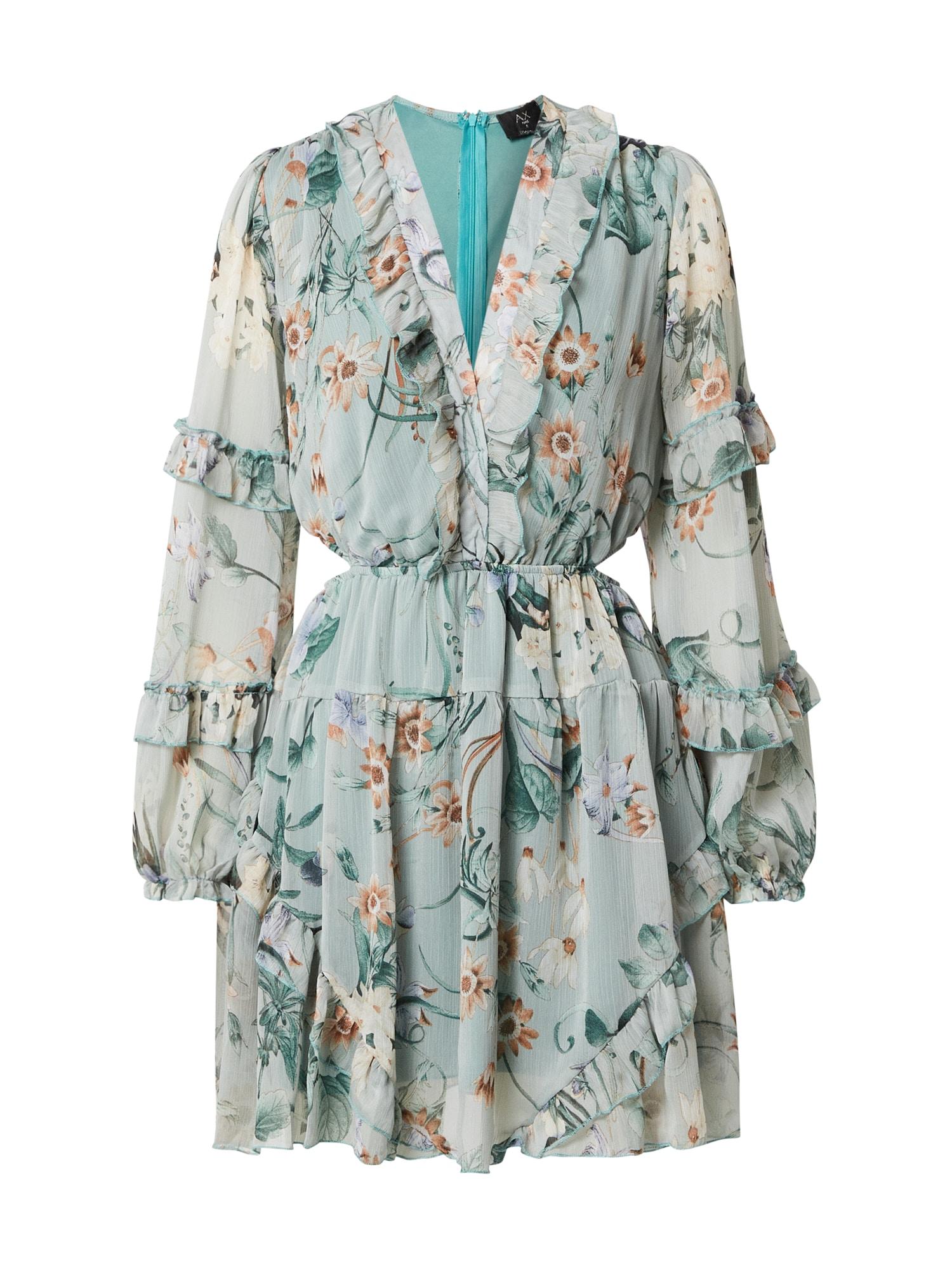 AX Paris Suknelė mėtų spalva / mišrios spalvos