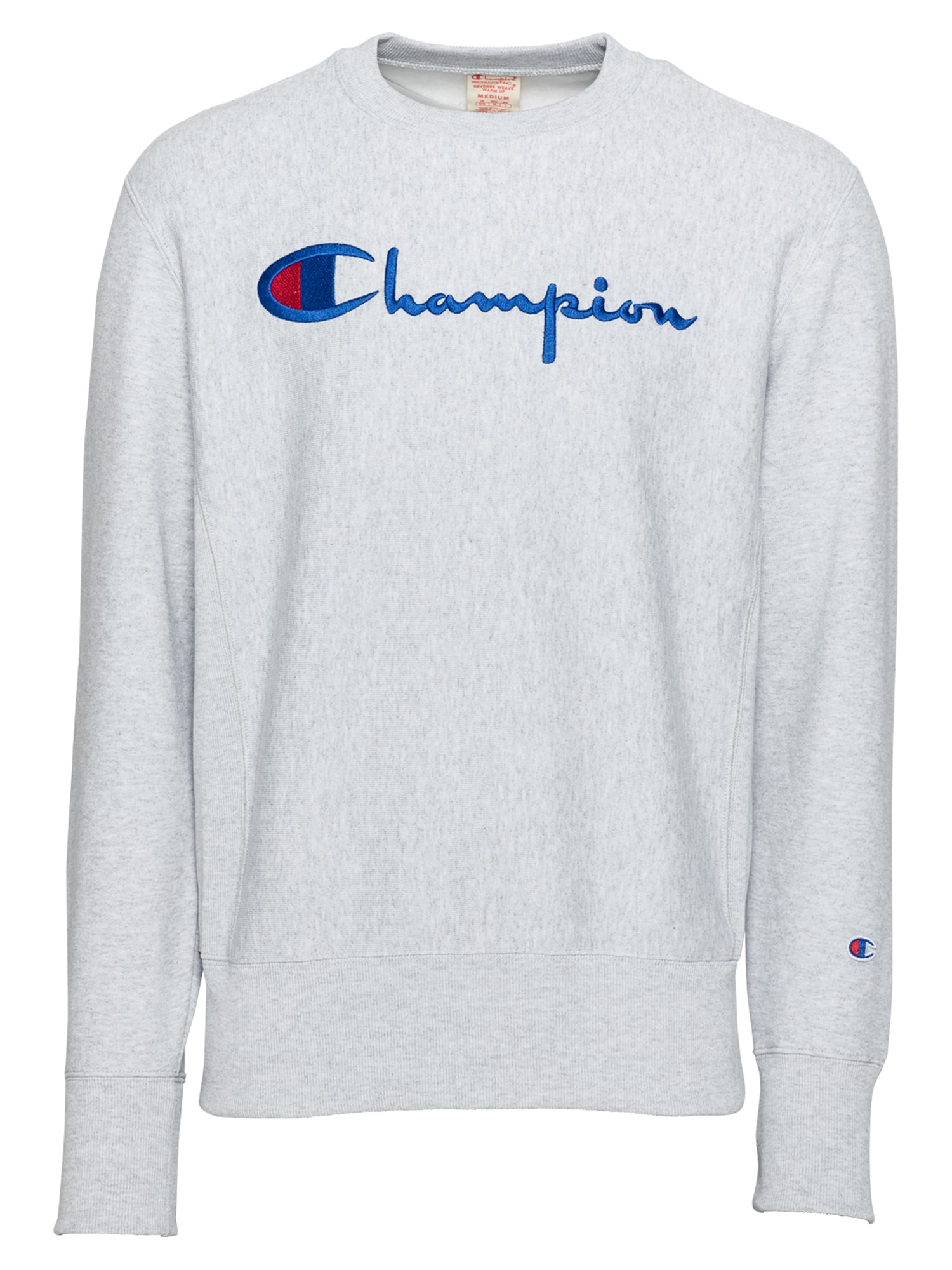 Champion Reverse Weave Megztinis be užsegimo margai pilka / tamsiai mėlyna / raudona
