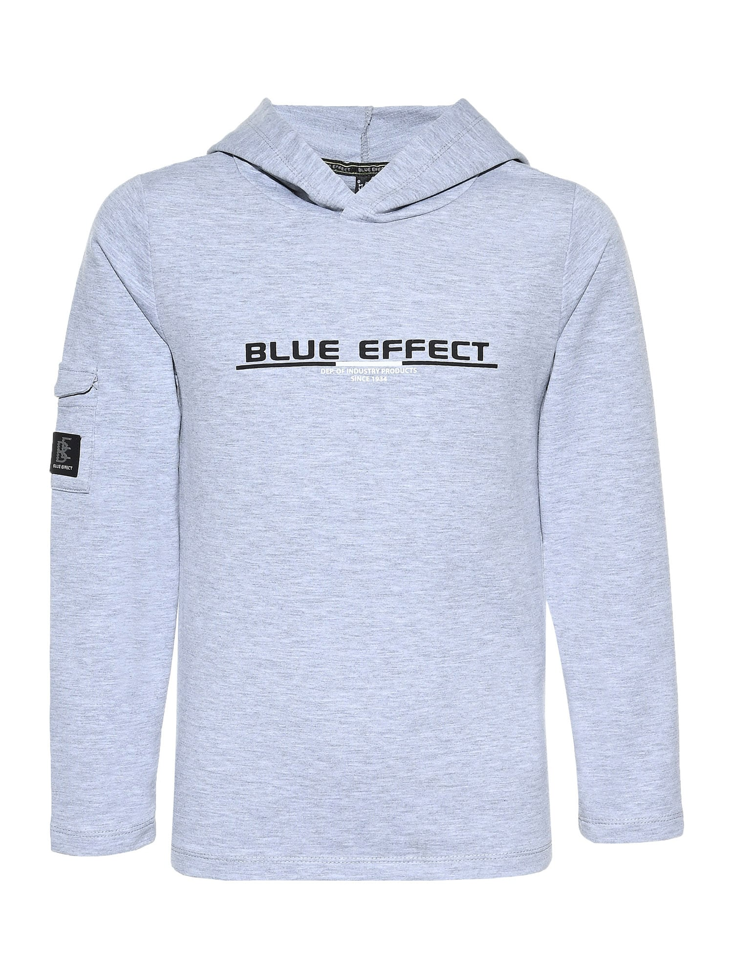 BLUE EFFECT Megztinis be užsegimo pilka / juoda / balta