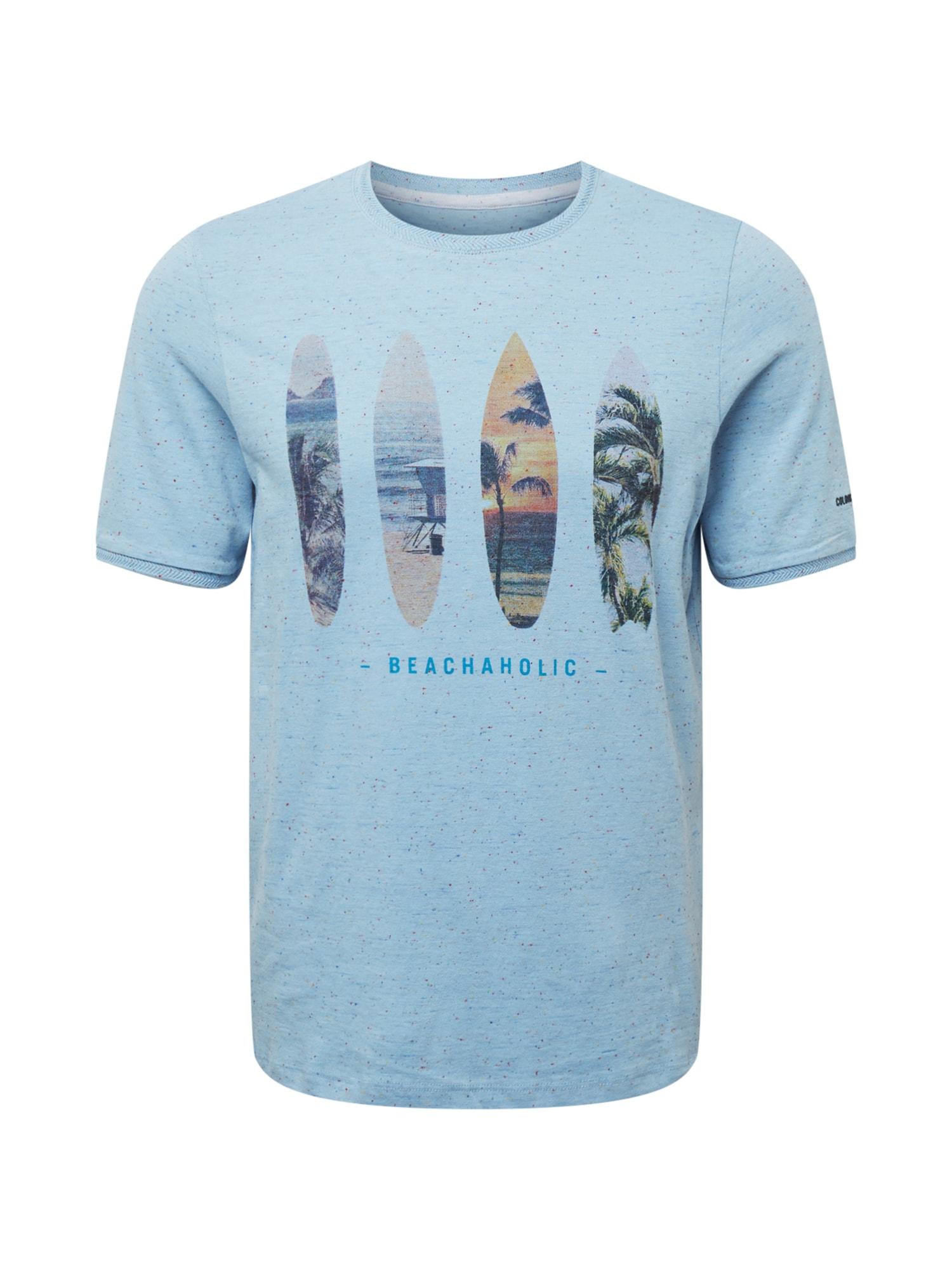 COLOURS & SONS Marškinėliai šviesiai mėlyna / tamsiai mėlyna / tamsiai oranžinė / žalia / pudros spalva