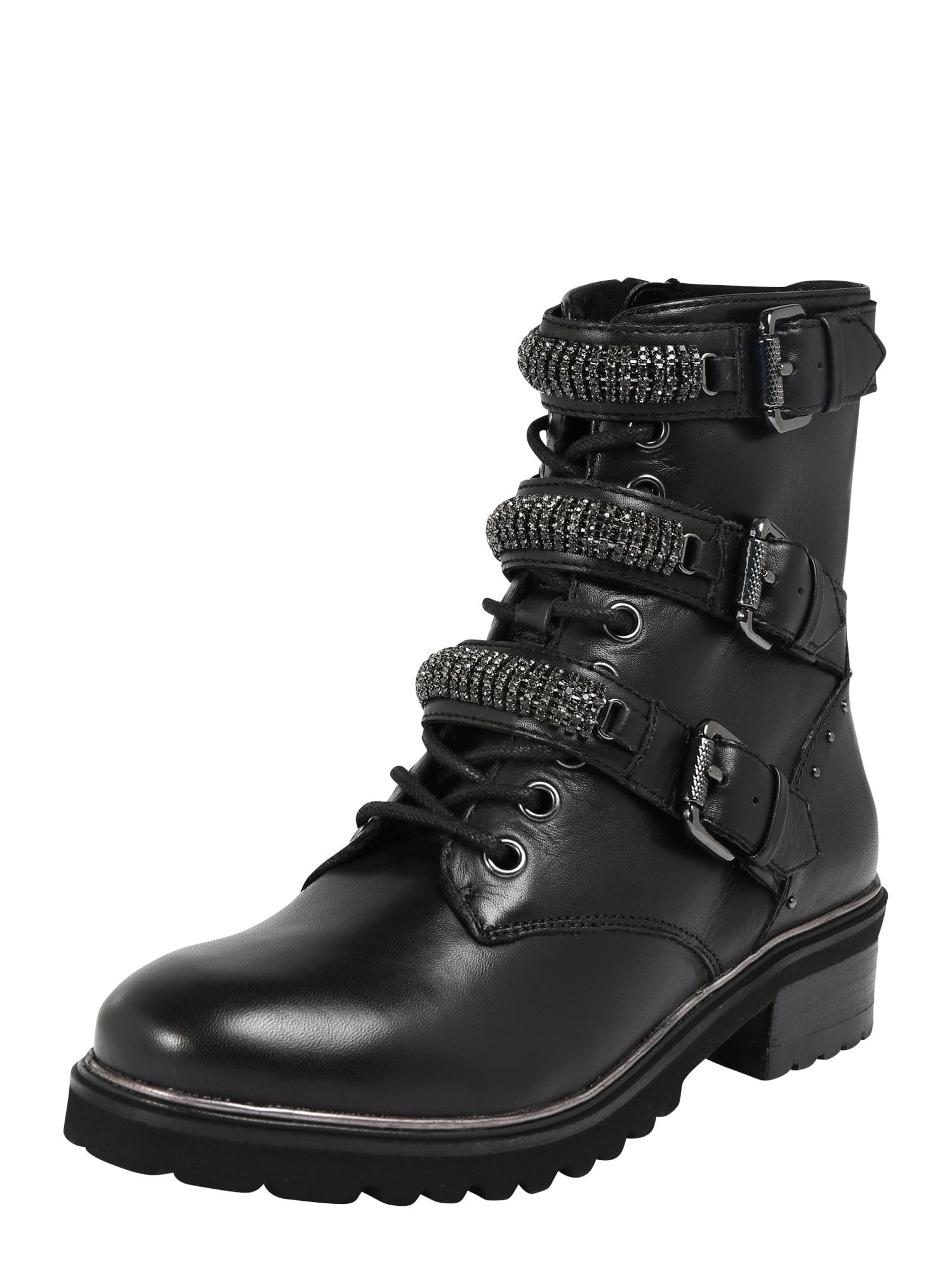 Steven New York Šněrovací boty 'Festy'  černá