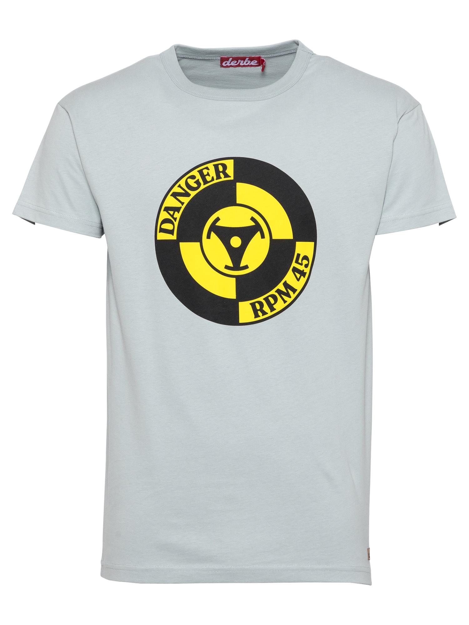Derbe Marškinėliai geltona / juoda / šviesiai pilka
