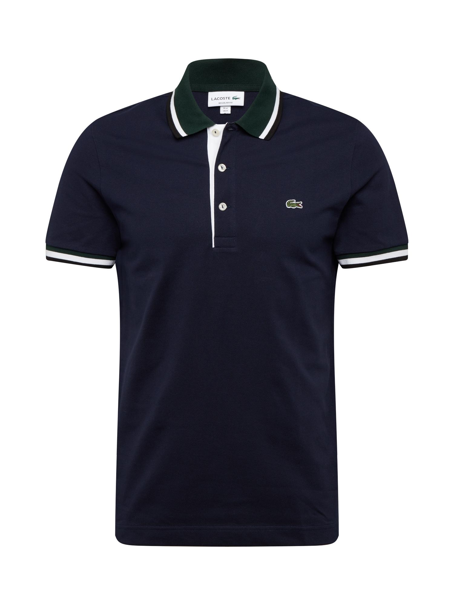 LACOSTE Tričko  zelená / námořnická modř