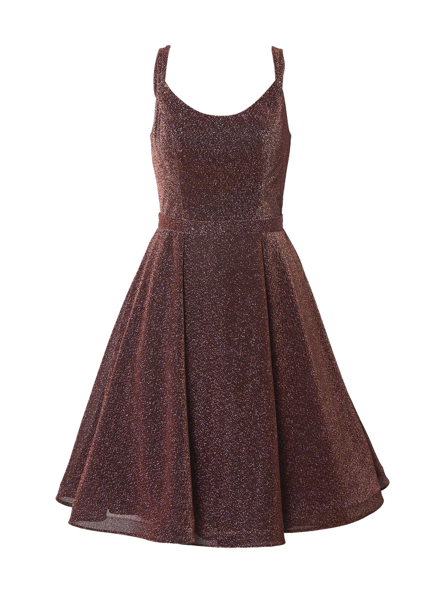 mascara Kokteilinė suknelė uogų spalva