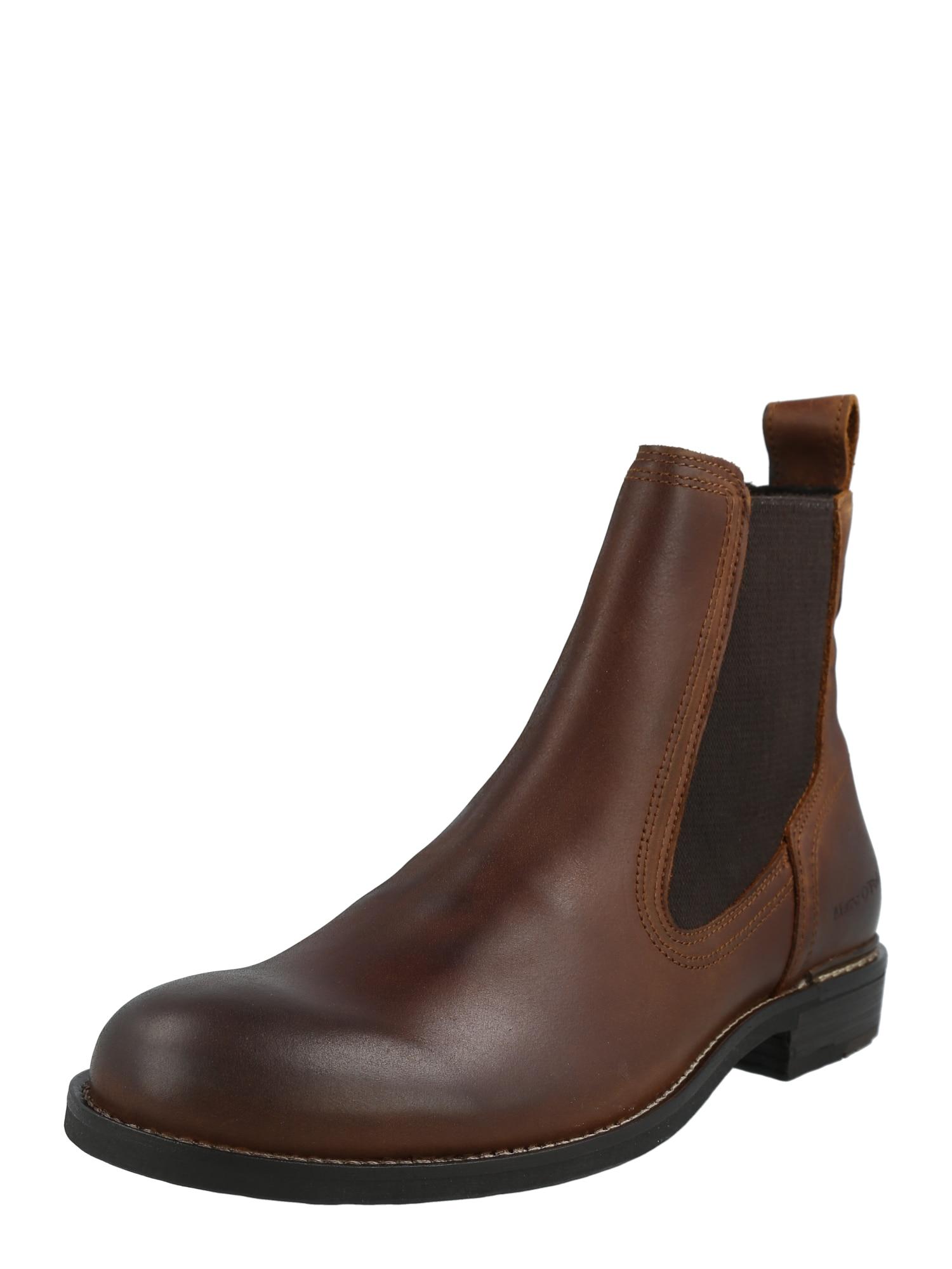 Marc O'Polo Chelsea boty 'Sami'  hnědá / černá
