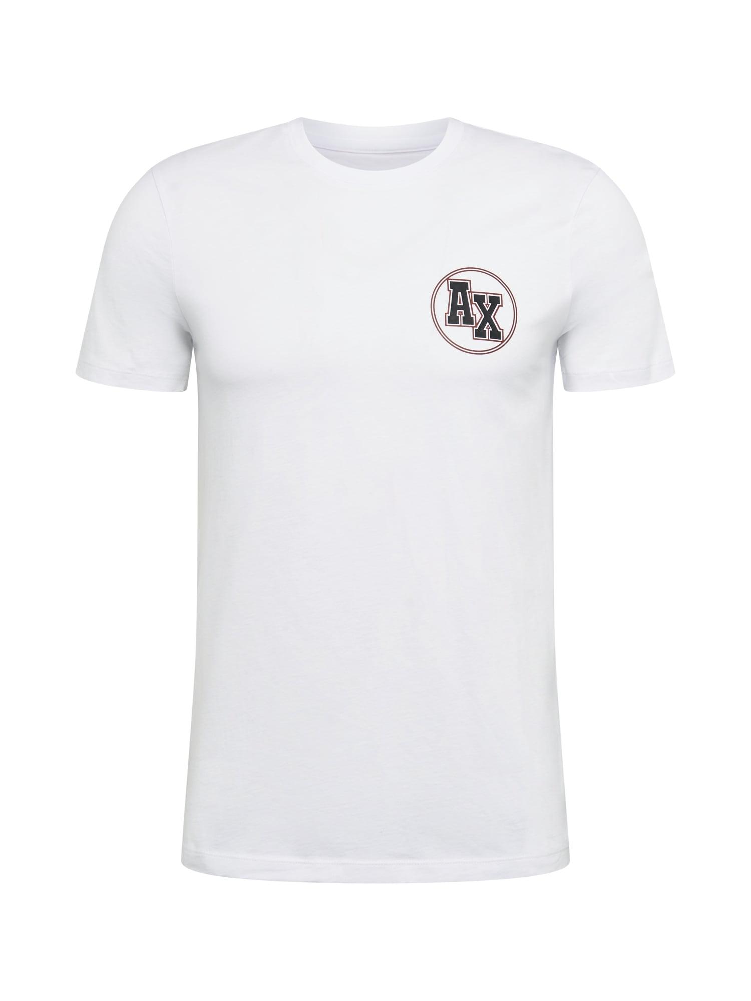 ARMANI EXCHANGE Tričko  černá / bílá / červená