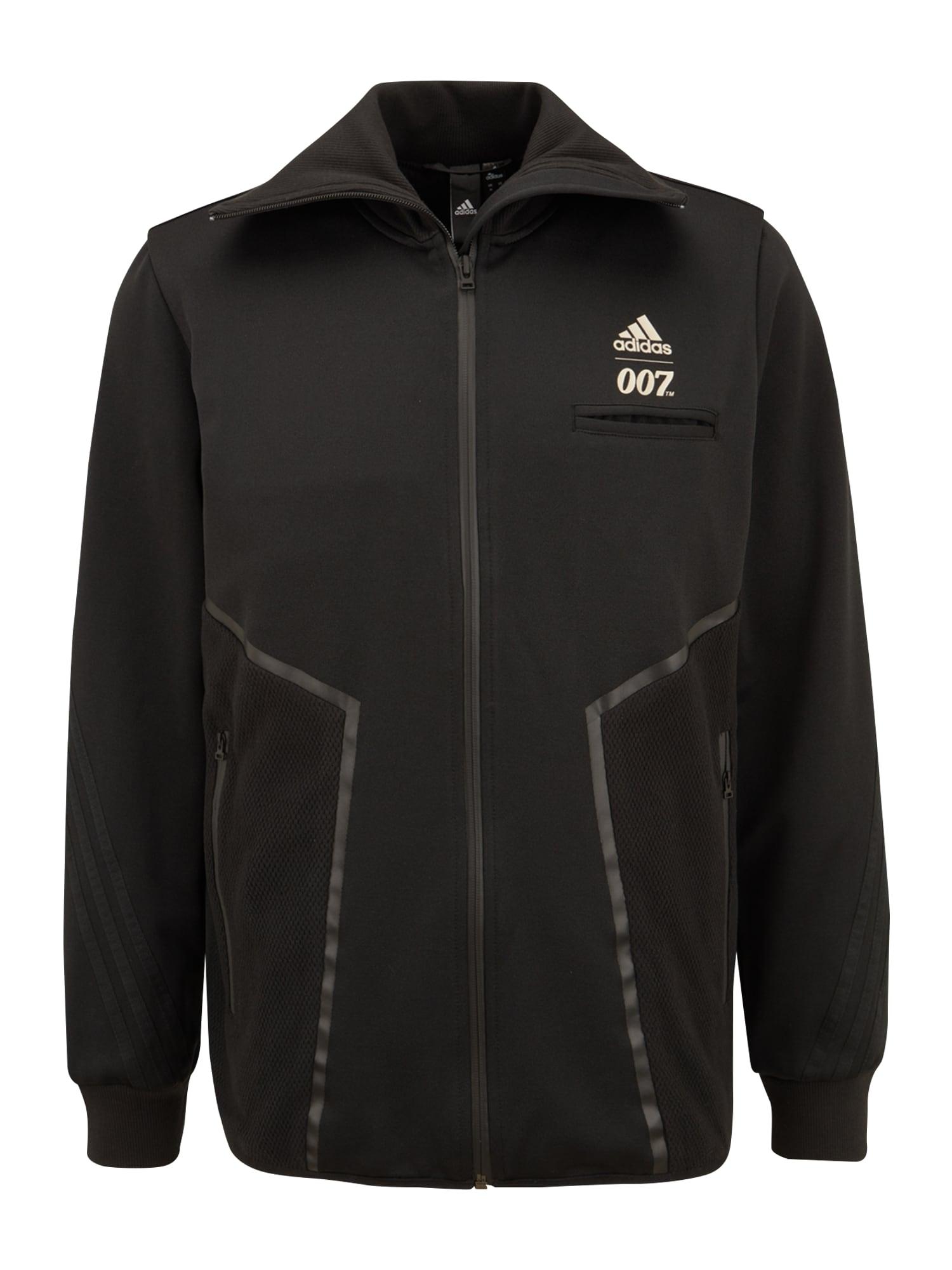 ADIDAS PERFORMANCE Sportovní bunda  černá / zlatá