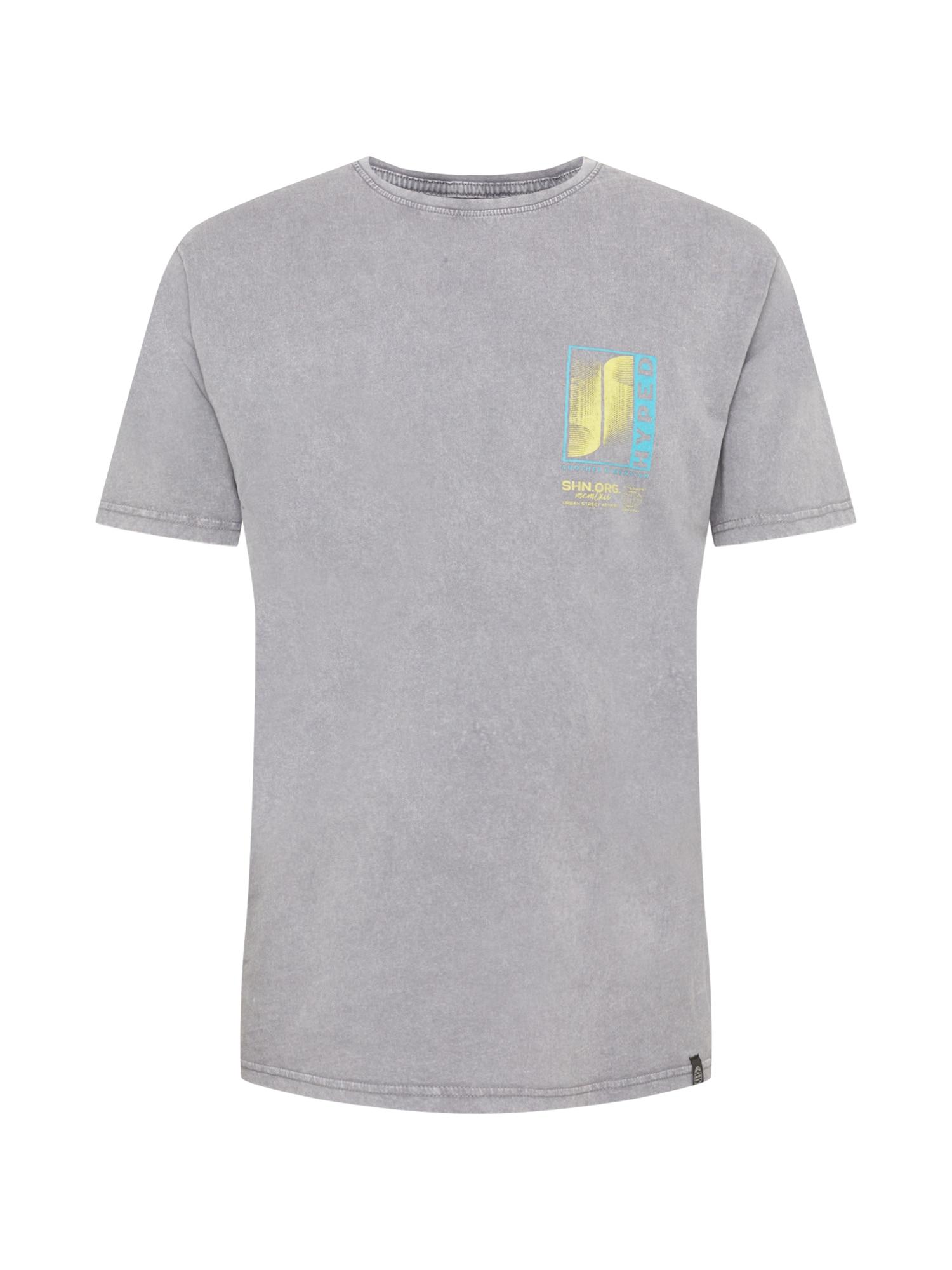 SHINE ORIGINAL Marškinėliai pilka / geltona / mėlyna