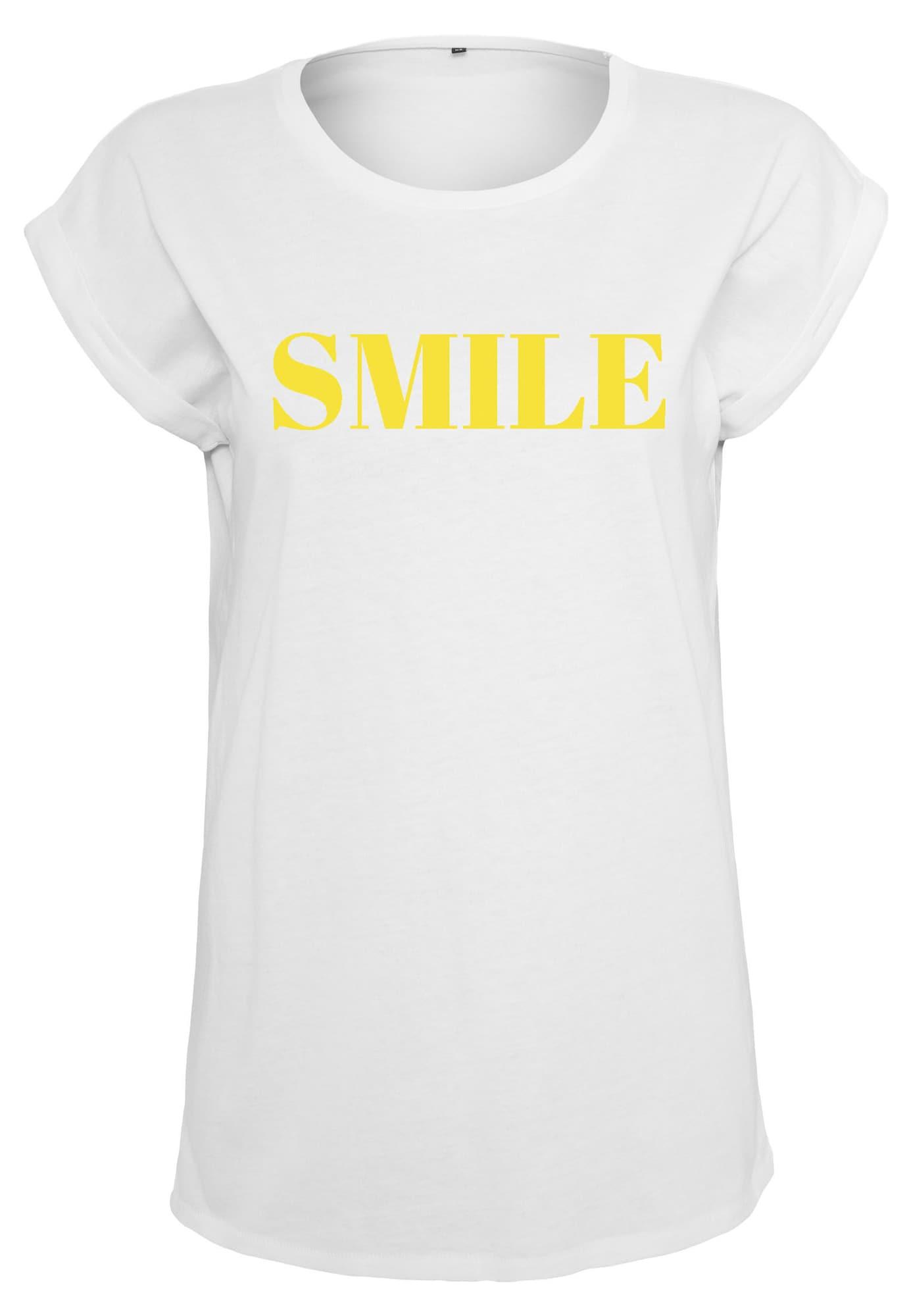 Merchcode Marškinėliai geltona / balta
