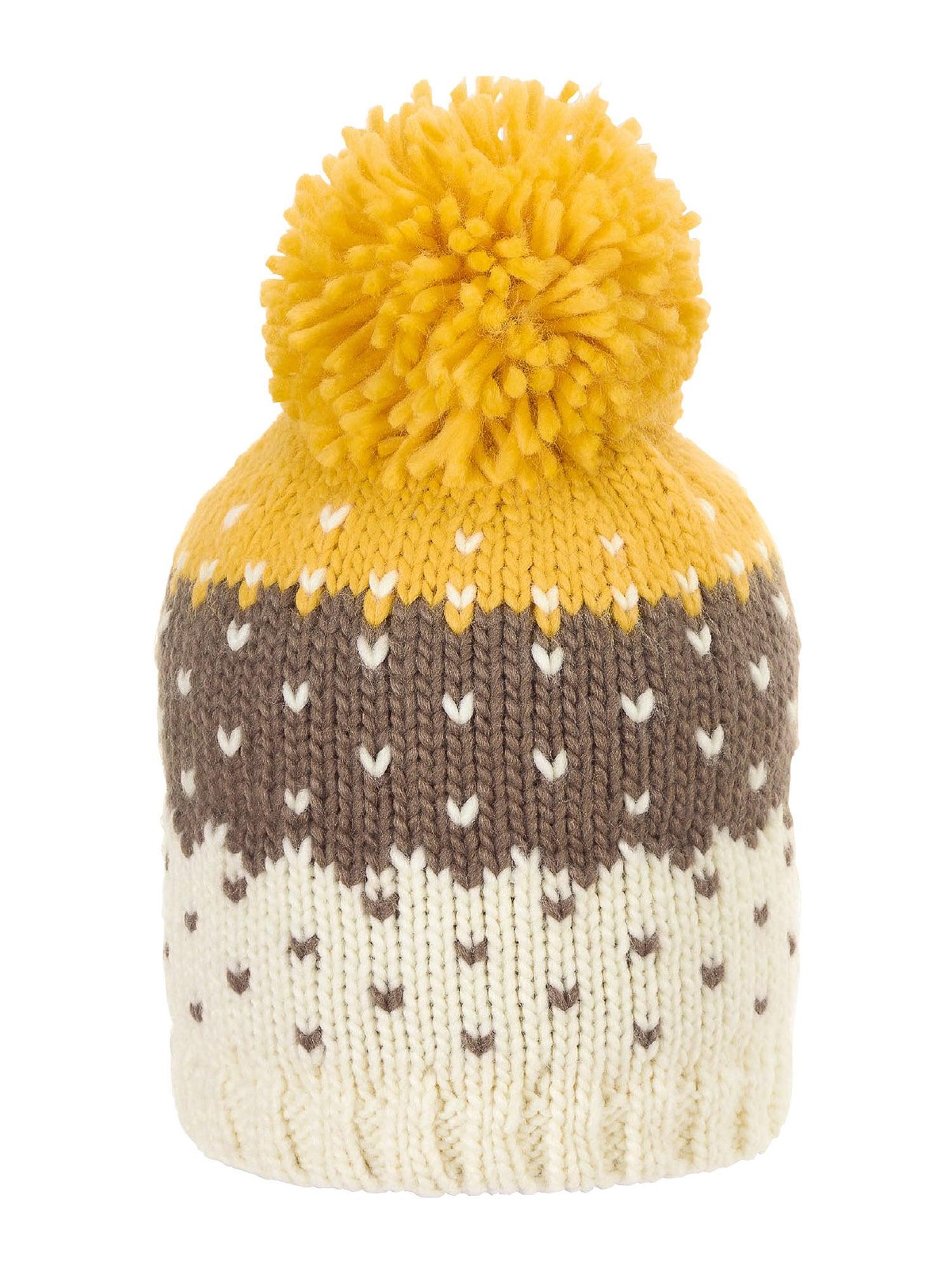 STERNTALER Megzta kepurė smėlio / geltona / ruda