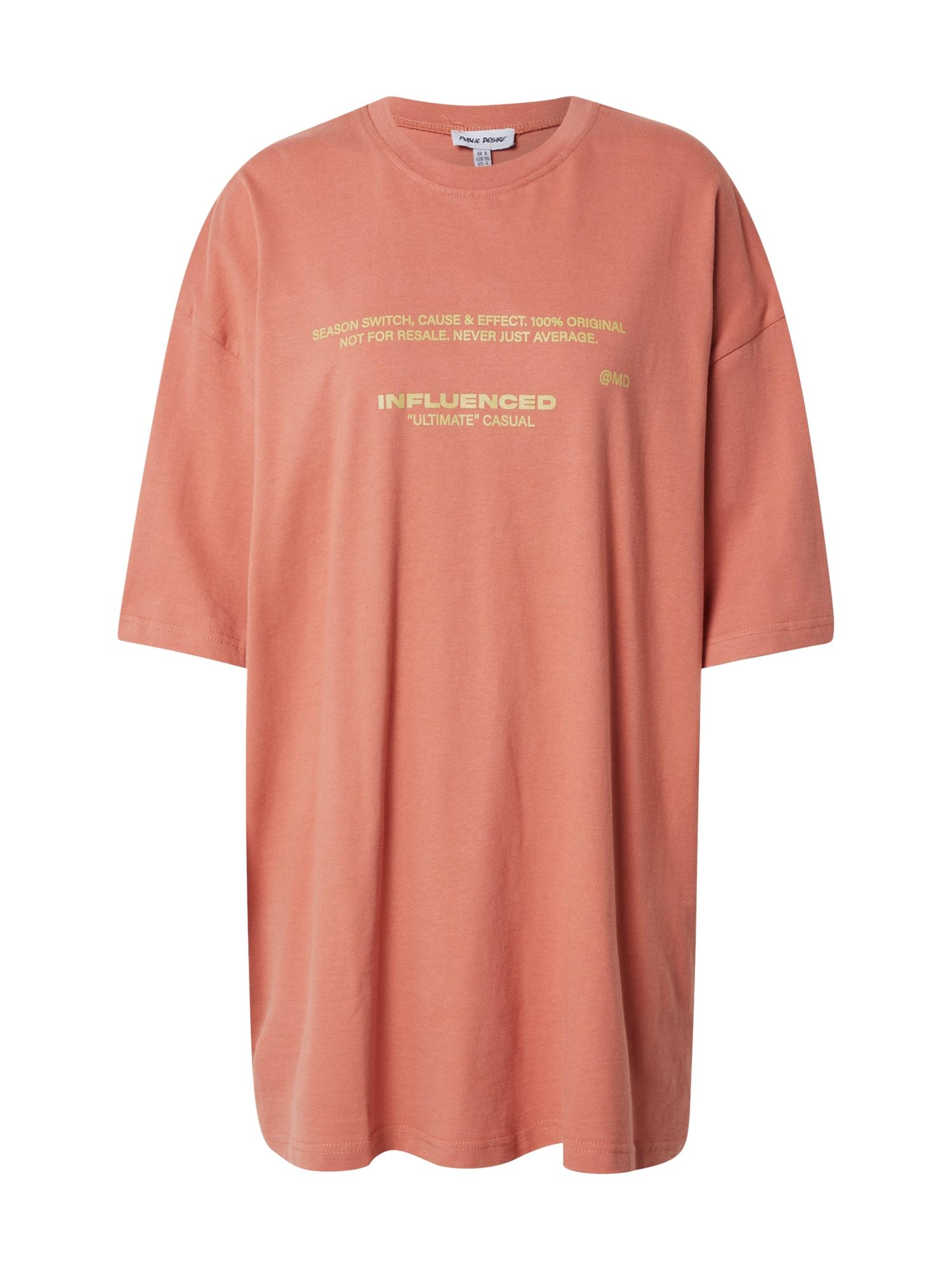 Public Desire Laisvi marškinėliai koralų splava / auksas