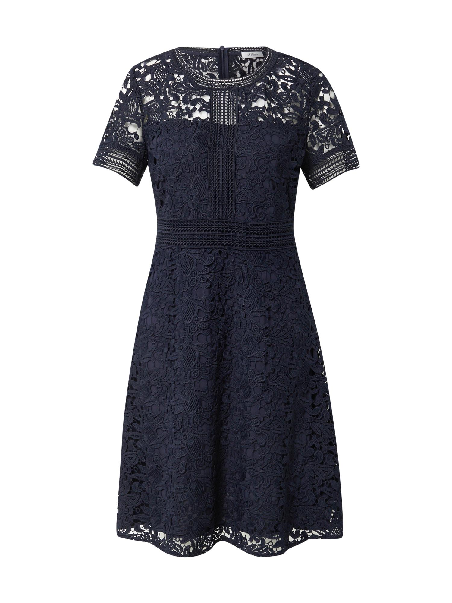 s.Oliver BLACK LABEL Kokteilinė suknelė tamsiai mėlyna