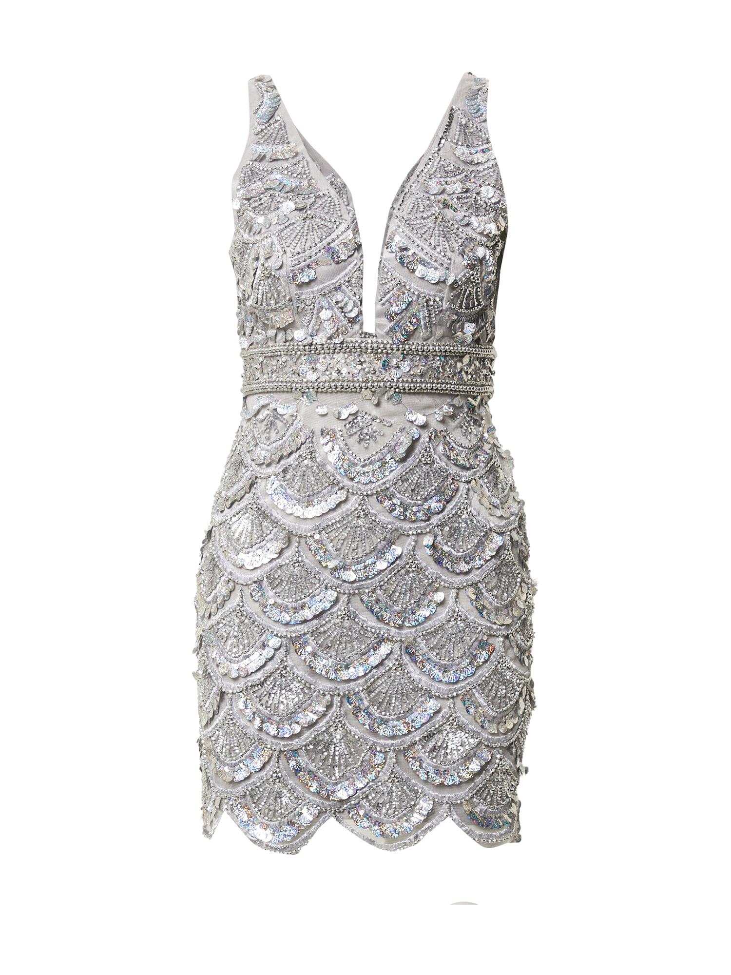 A STAR IS BORN Vakarinė suknelė sidabrinė