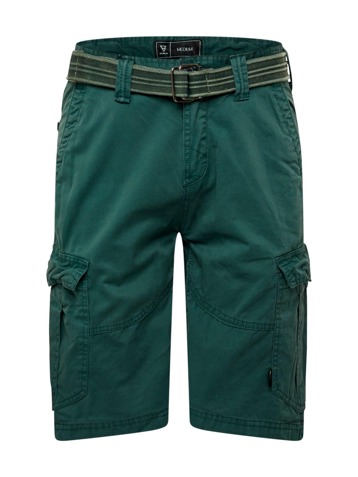 BRUNOTTI Laisvo stiliaus kelnės tamsiai žalia