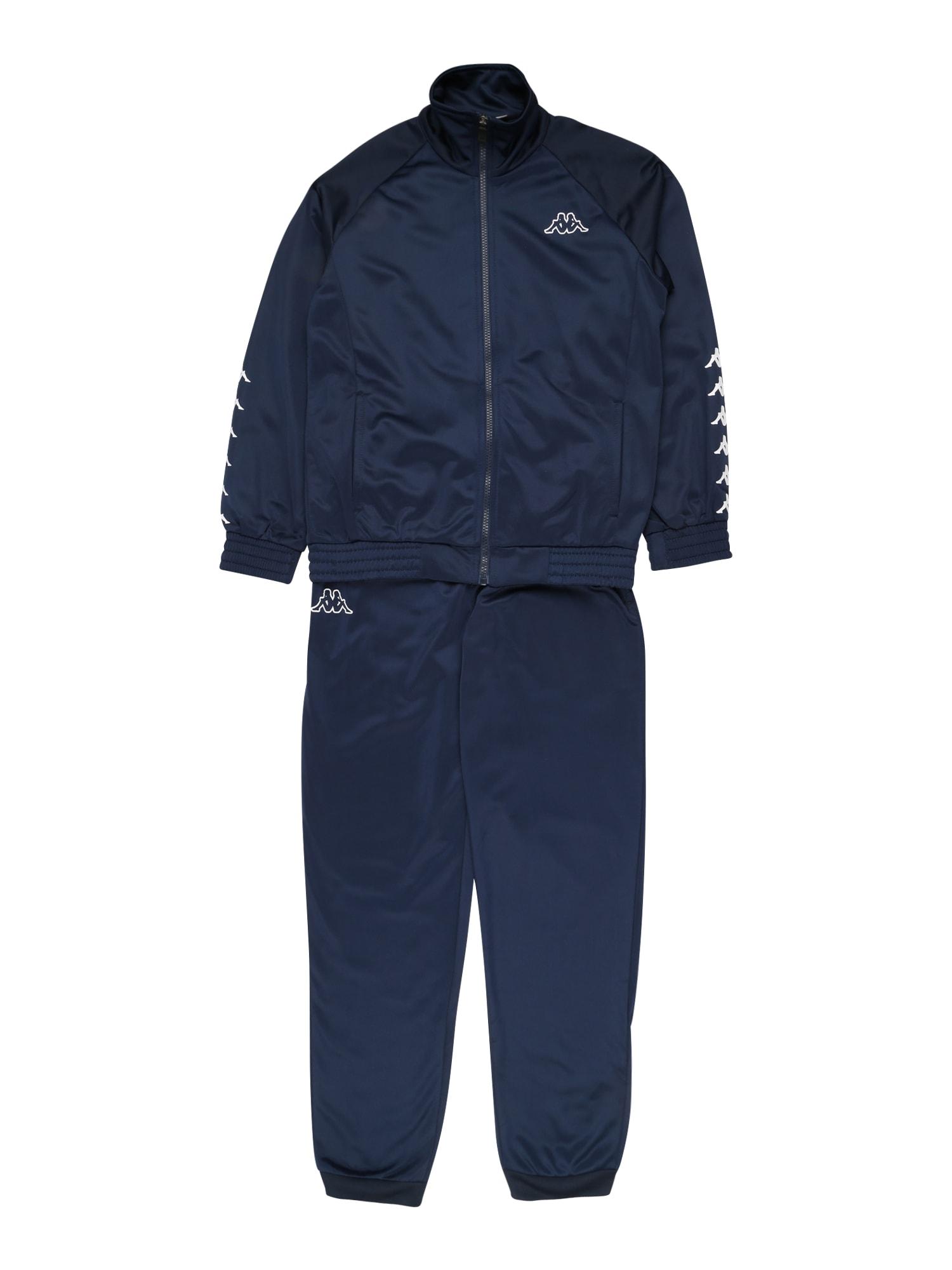 KAPPA Joggingová souprava 'Till'  bílá / tmavě modrá