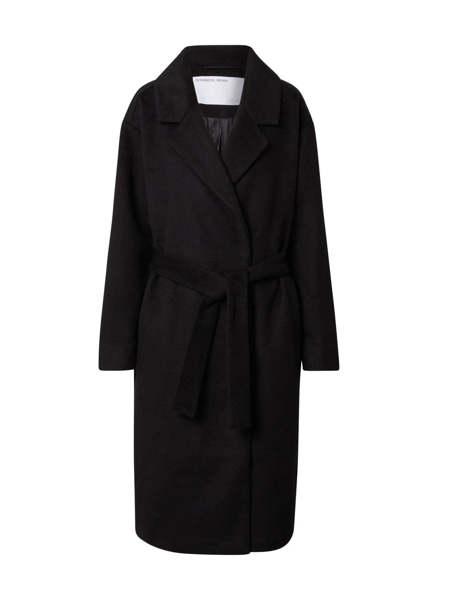 Designers Remix Demisezoninis paltas 'Julie' juoda