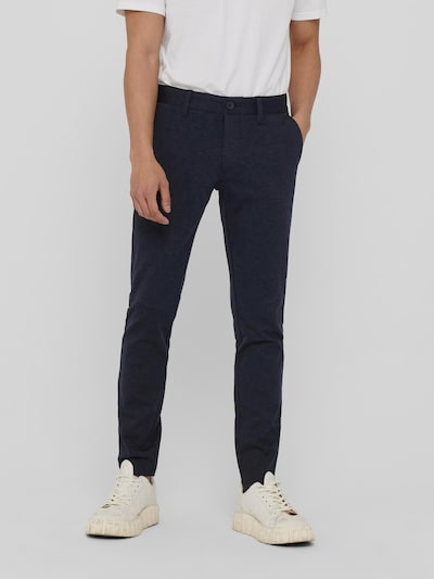Only & Sons Mark Slim Fit Trousers In Melange