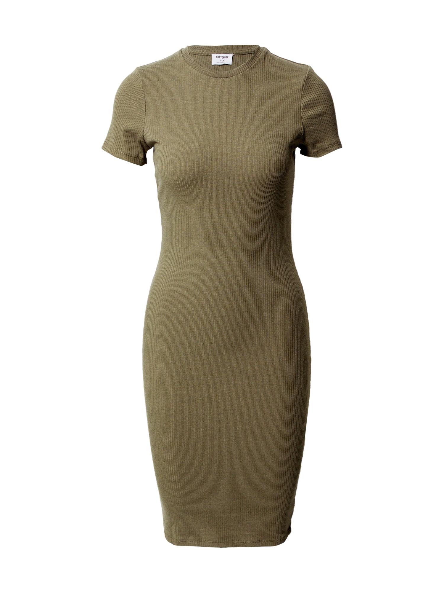 Cotton On Suknelė ruda / rusvai žalia