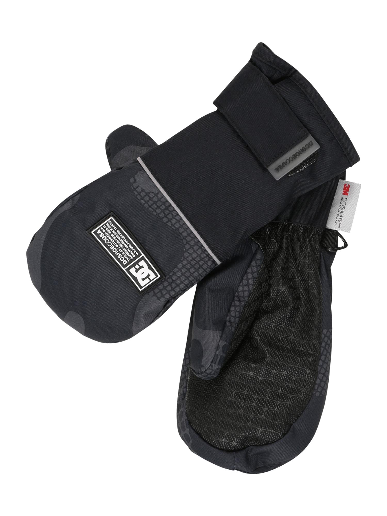 DC Shoes Sportinės pirštinės juoda / tamsiai pilka / antracito spalva