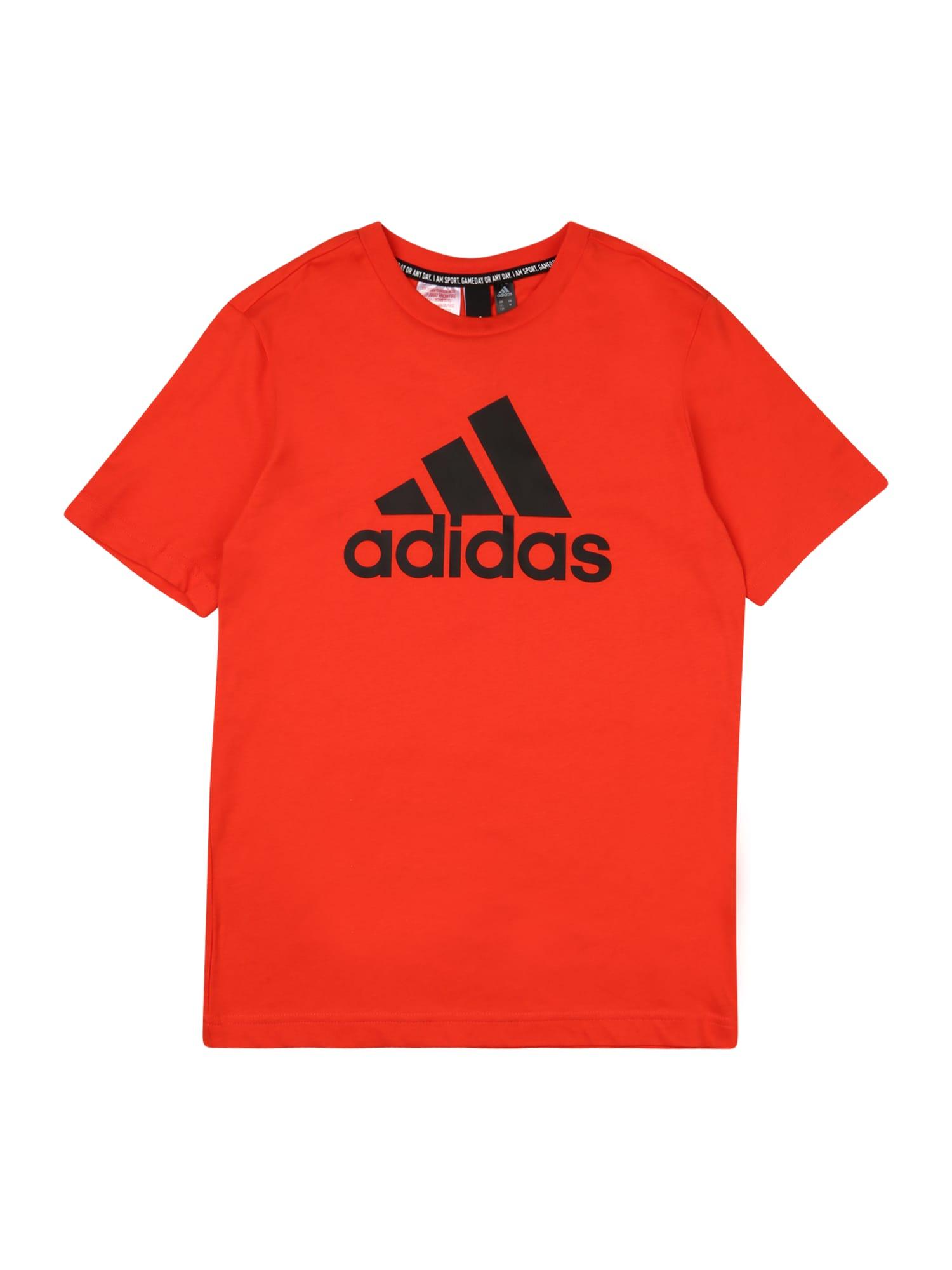 ADIDAS PERFORMANCE Funkční tričko 'BOS'  červená / černá
