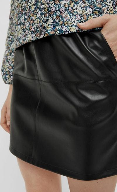 Pieces Giada High Waisted Minirock im Leder-Look
