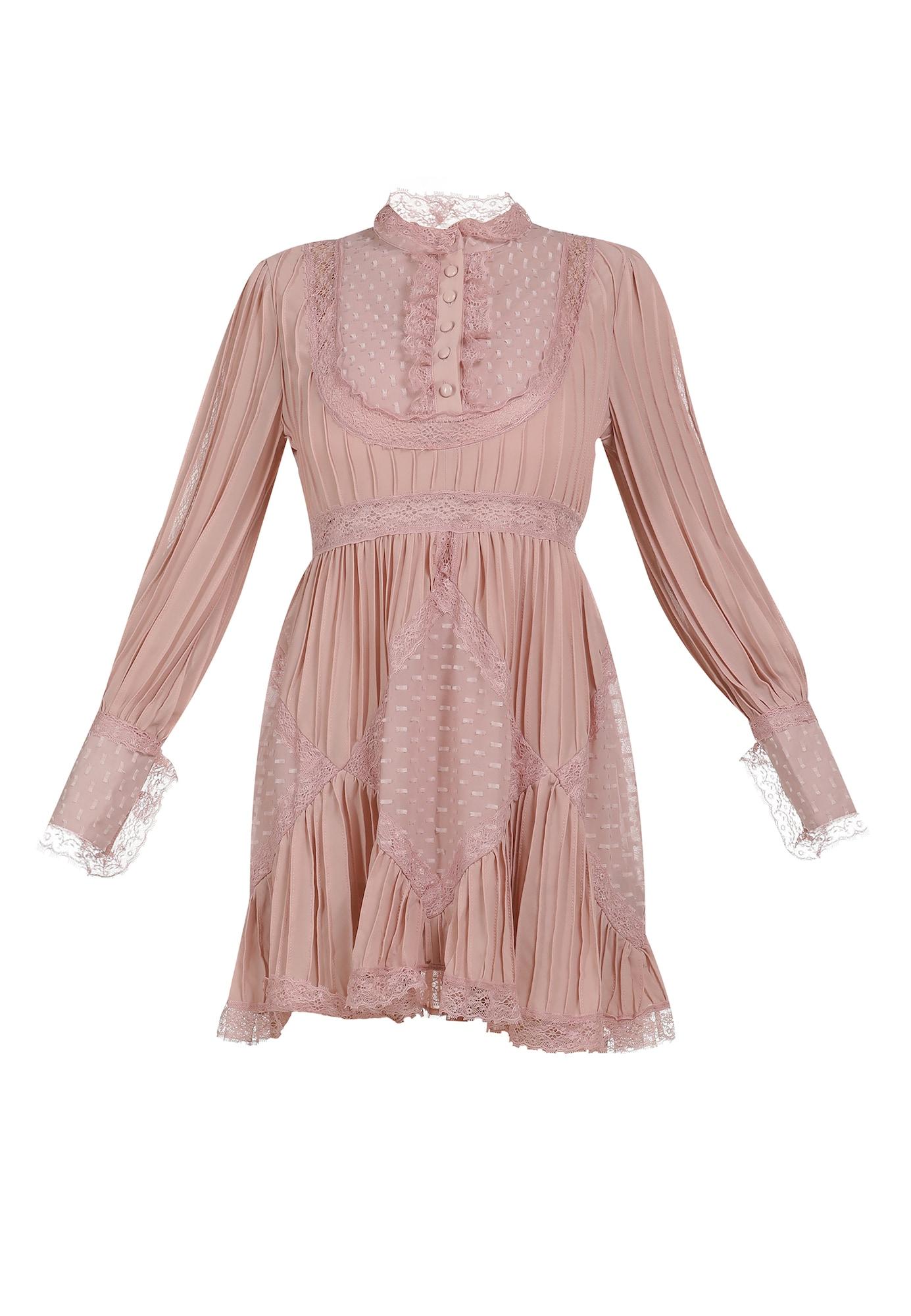 faina Palaidinės tipo suknelė ryškiai rožinė spalva