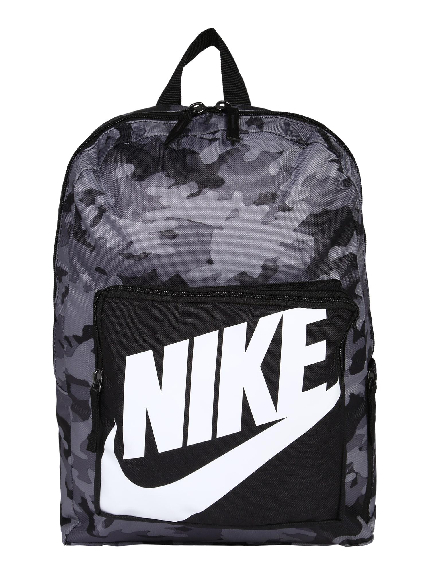 Nike Sportswear Kuprinė balta / juoda / pilka