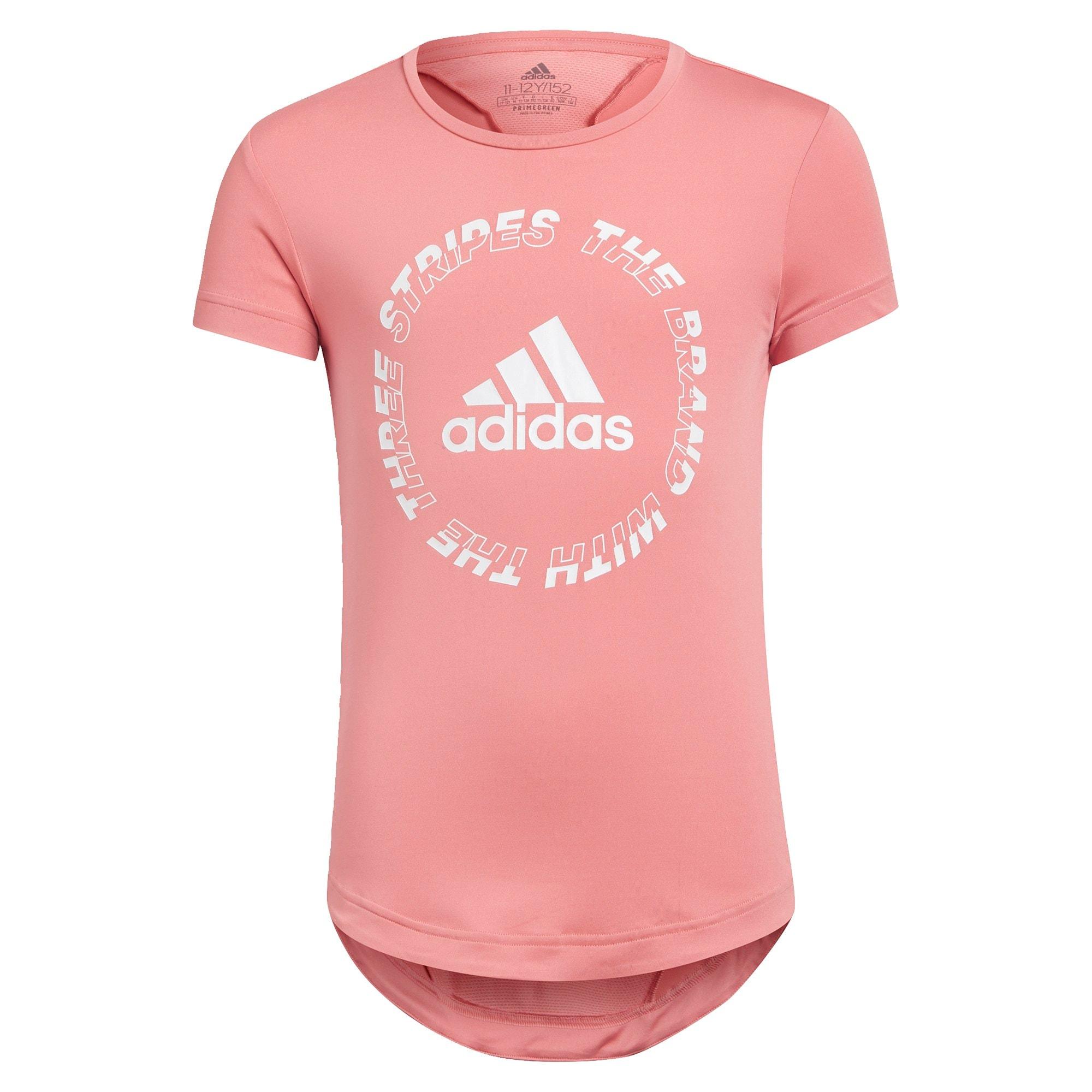 ADIDAS PERFORMANCE Sportiniai marškinėliai rožių spalva / balta