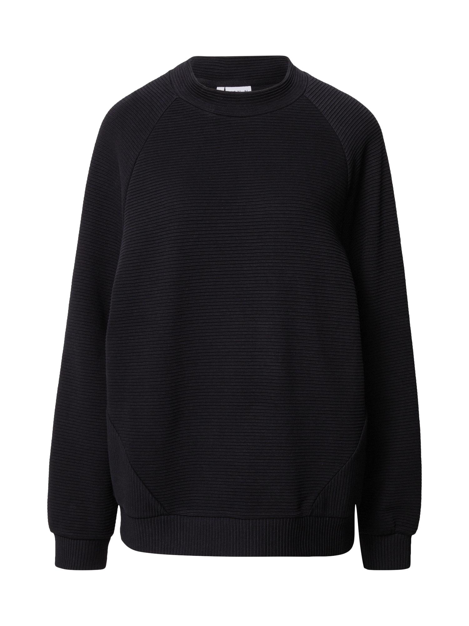 JAN 'N JUNE Megztinis be užsegimo 'TOULON' juoda