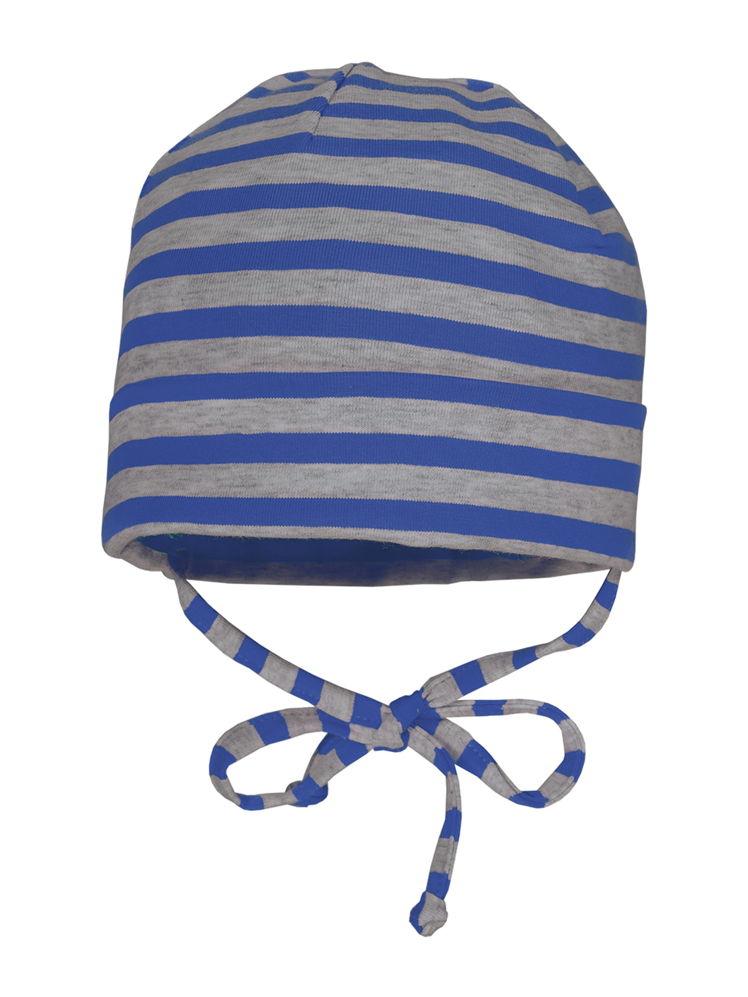 MAXIMO Megzta kepurė mėlyna / margai pilka