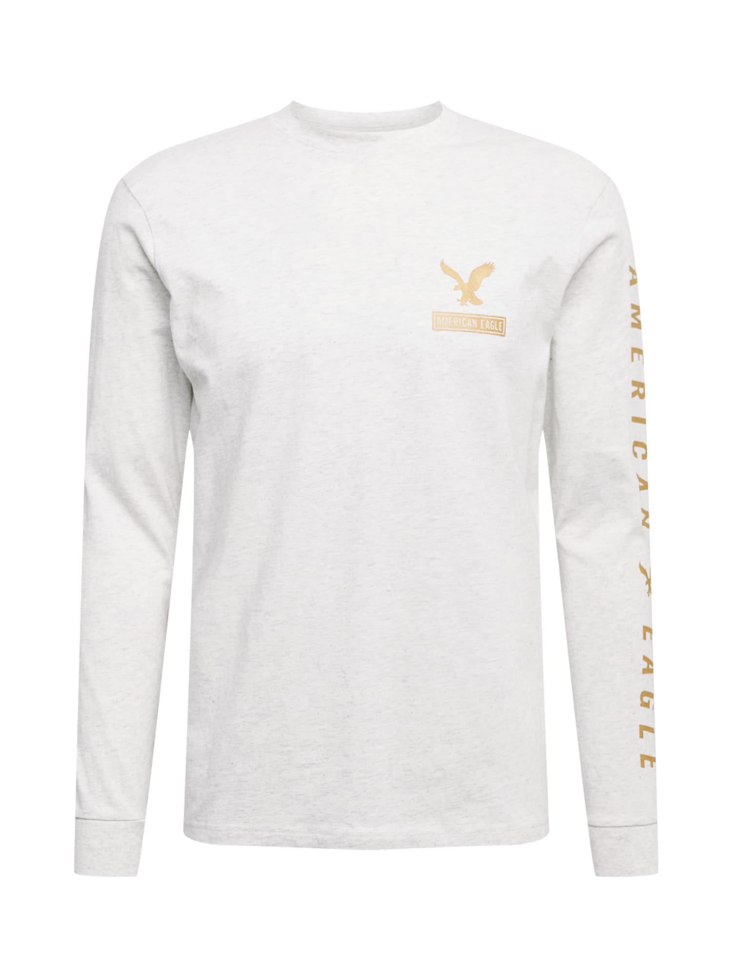 American Eagle Marškinėliai margai pilka / auksas