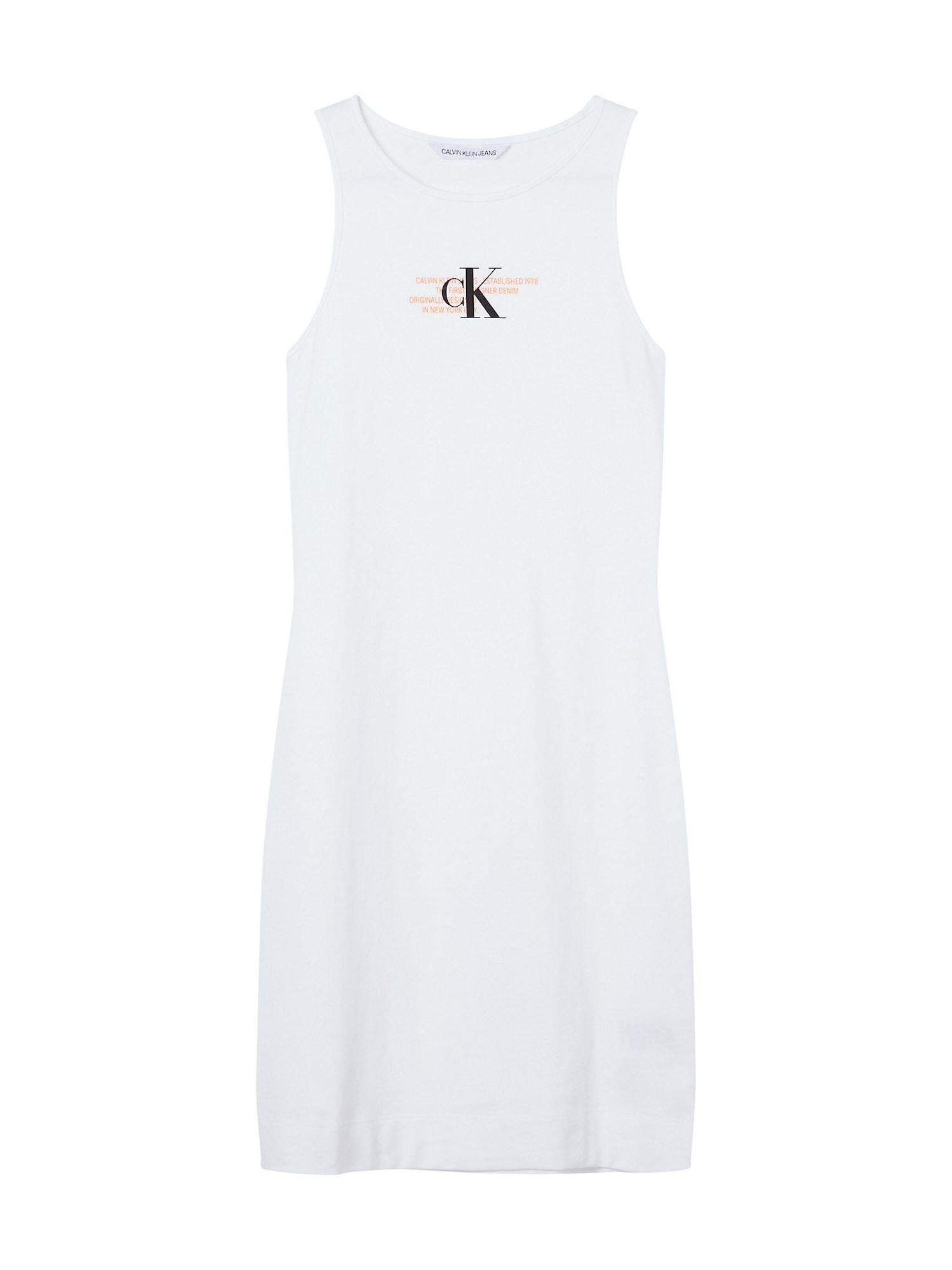 Calvin Klein Jeans Suknelė balta / oranžinė / juoda