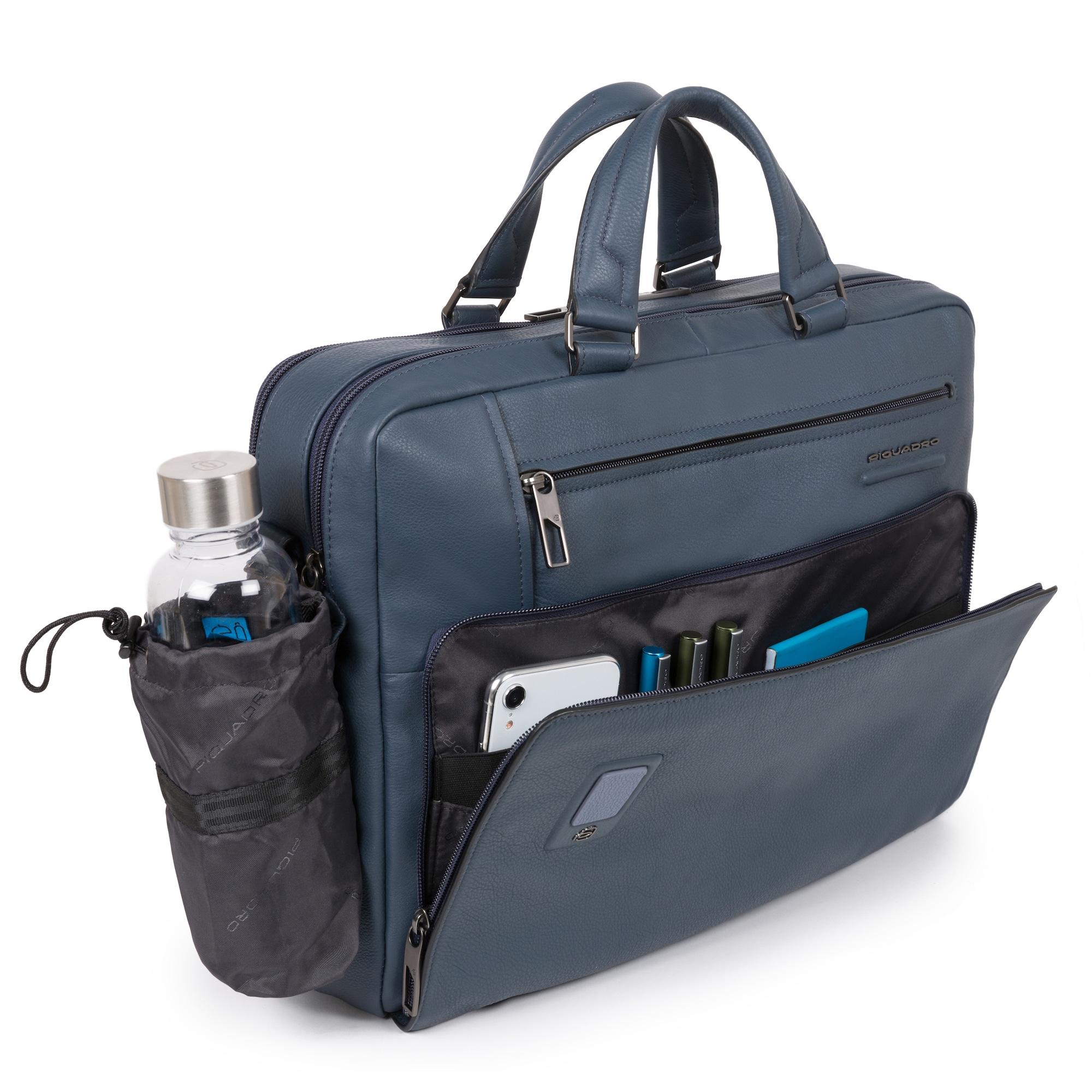 piquadro - Laptoptasche 'Akron' Leder 43 cm Laptopfach