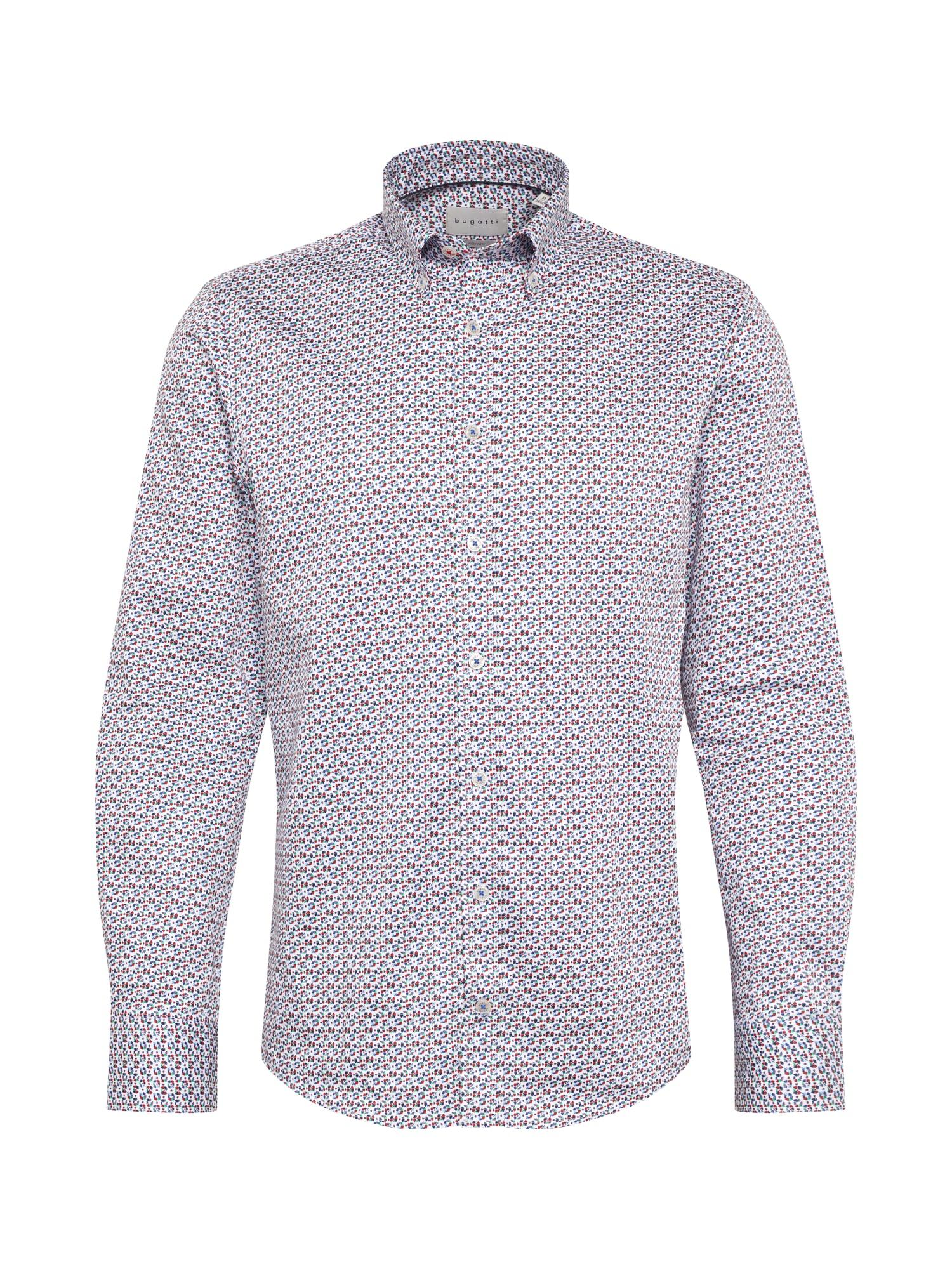 bugatti Marškiniai balta / mišrios spalvos