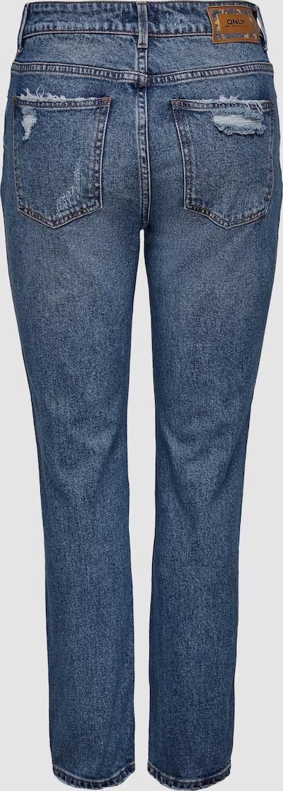 Only Emily Gerade Highwaist-Jeans im Destroyed-Look mit verkürztem Bein