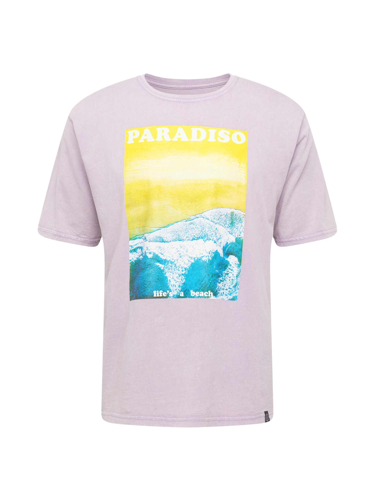SHINE ORIGINAL Marškinėliai pastelinė violetinė / geltona / turkio spalva / balta